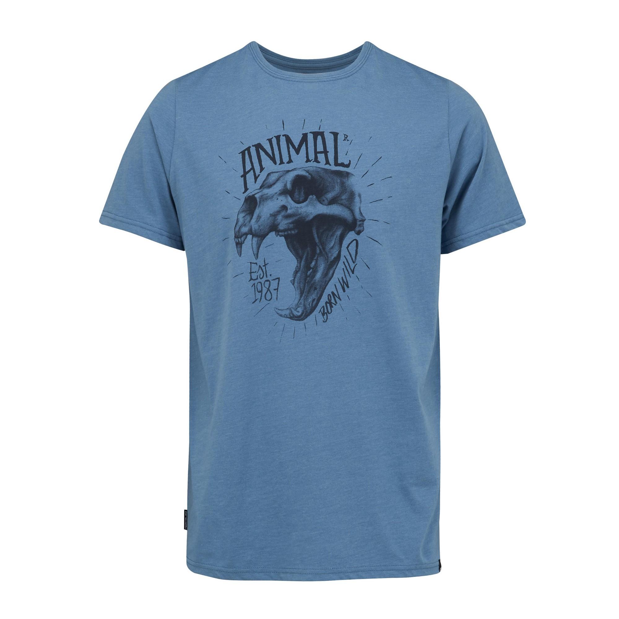 Animal-Camiseta-impresion-Calavera-animal-salvaje-hombre-caballero