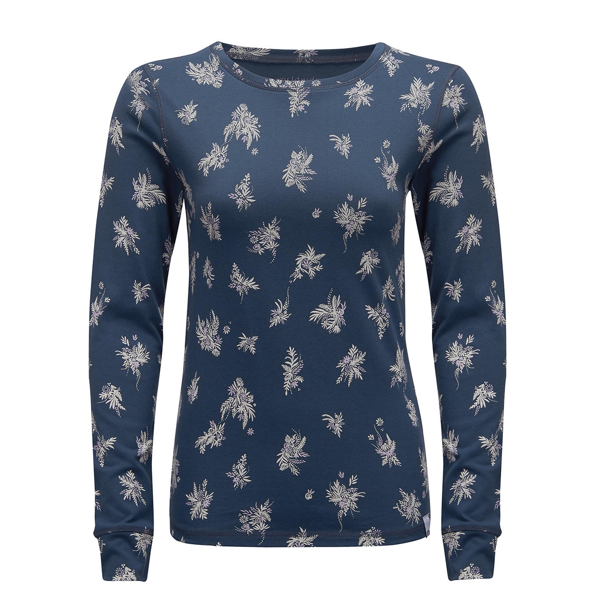 Animal-Peace-Peak-Maglietta-a-maniche-lunghe-con-motivo-floreale-Donna