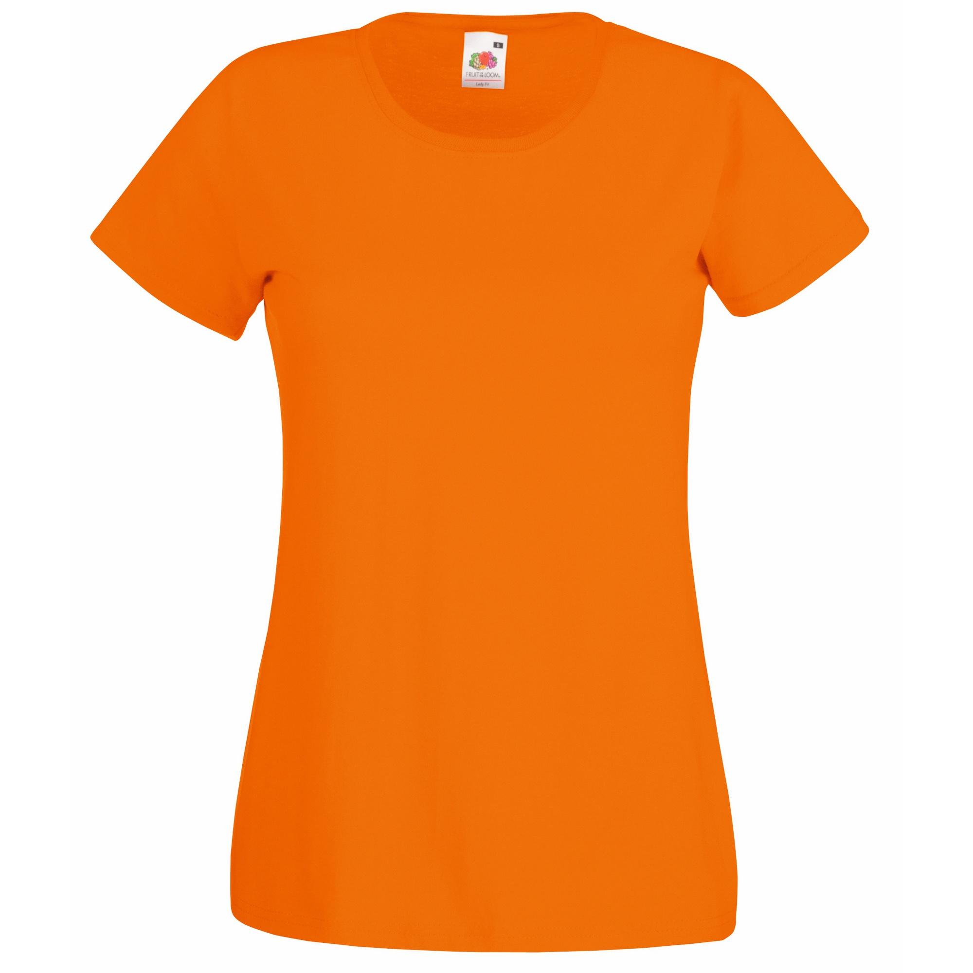 Fruit-Of-The-Loom-Camiseta-de-manga-corta-Valueweight-para-mujer