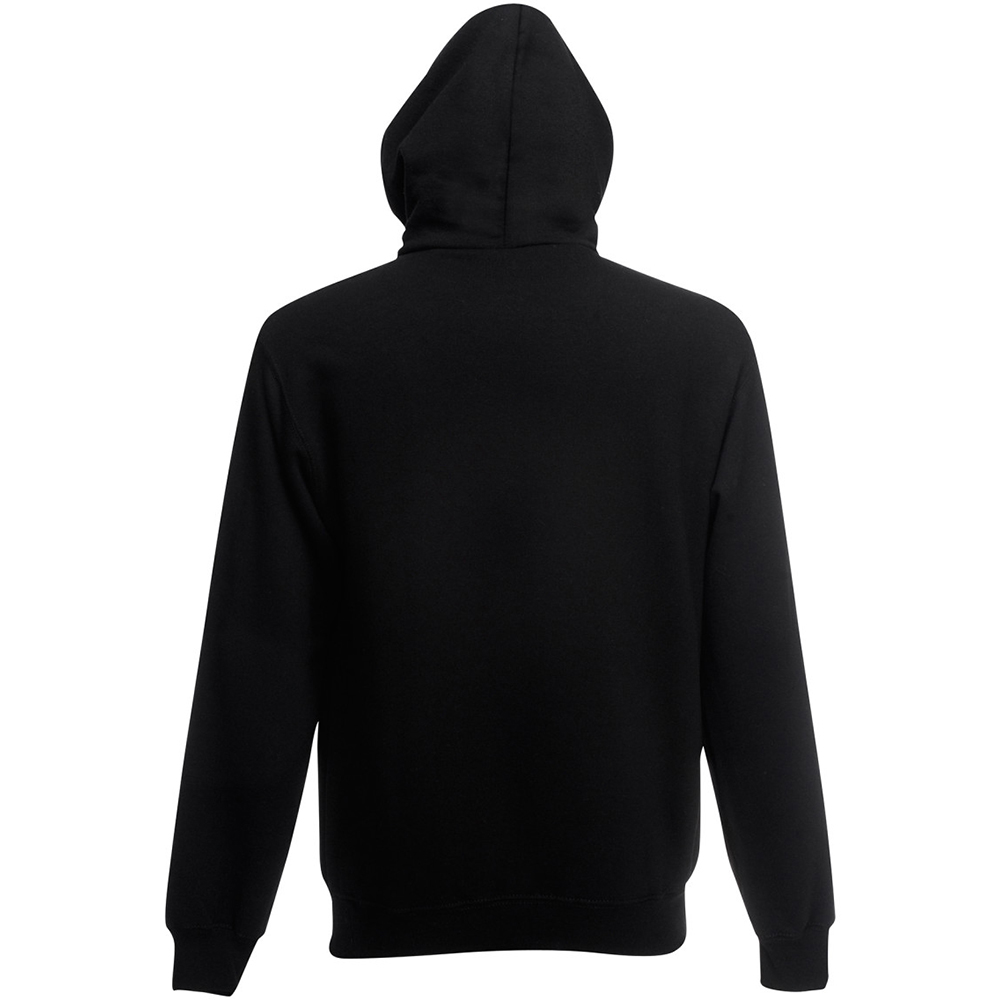 fruit of the loom mens plain hooded full zip sweatshirt. Black Bedroom Furniture Sets. Home Design Ideas