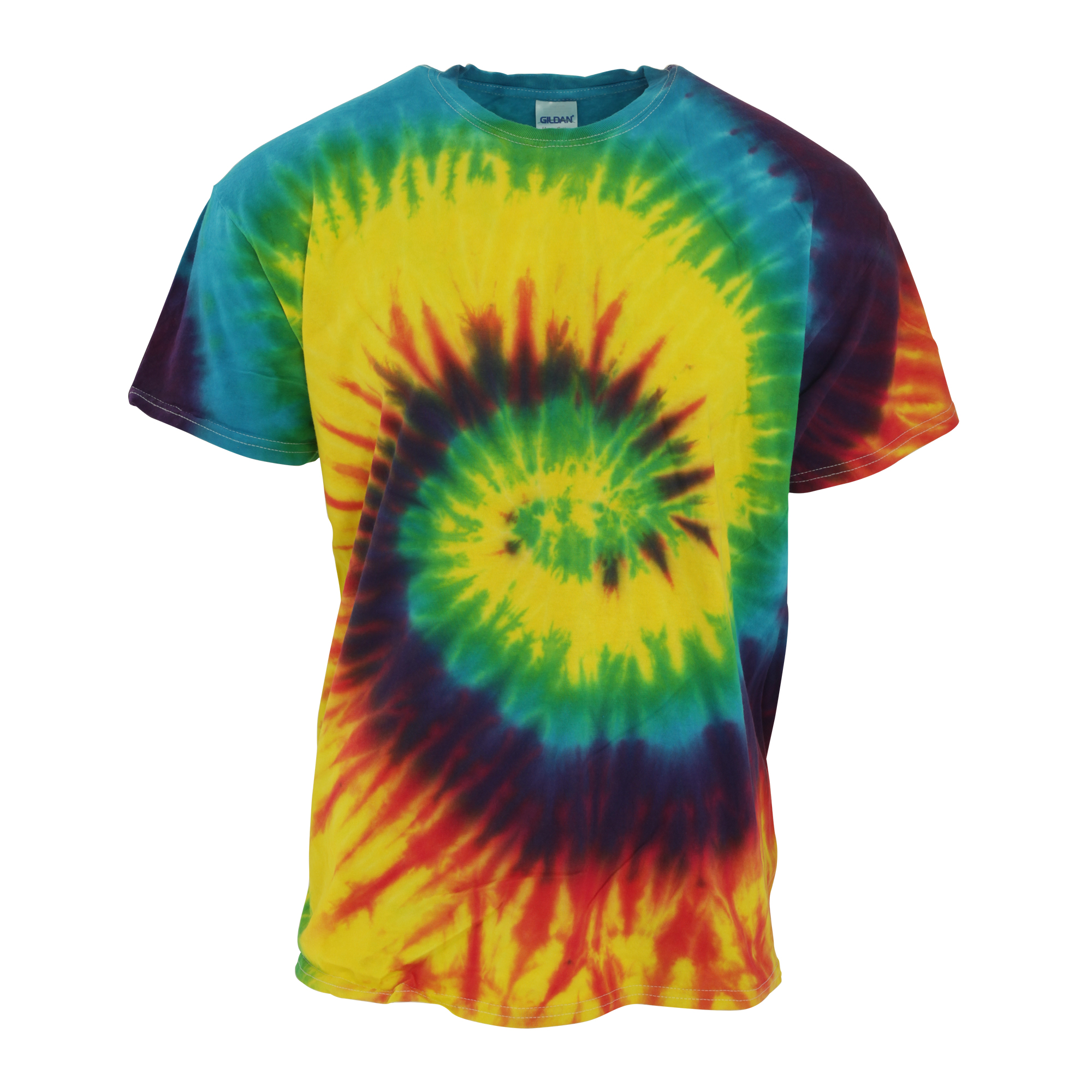 Tduk mens short sleeve rainbow tie dye t shirt 6 colours s for Nike tie dye shirt and shorts