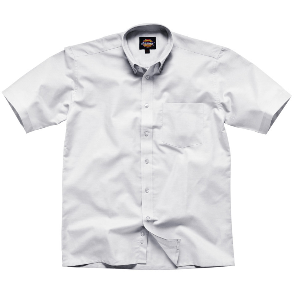 Dickies short sleeve cotton polyester oxford shirt mens for Mens short sleeve oxford shirt