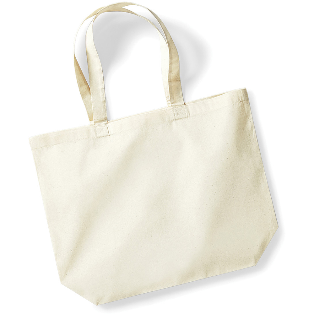 Westford Mill Maxi Tote/Shopper Shopping Cotton Plain Bag For Life ...