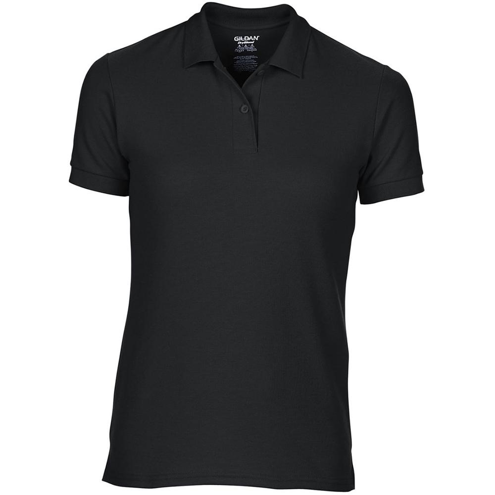 Gildan dryblend ladies sport double pique polo shirt ebay for Ladies pique polo shirts