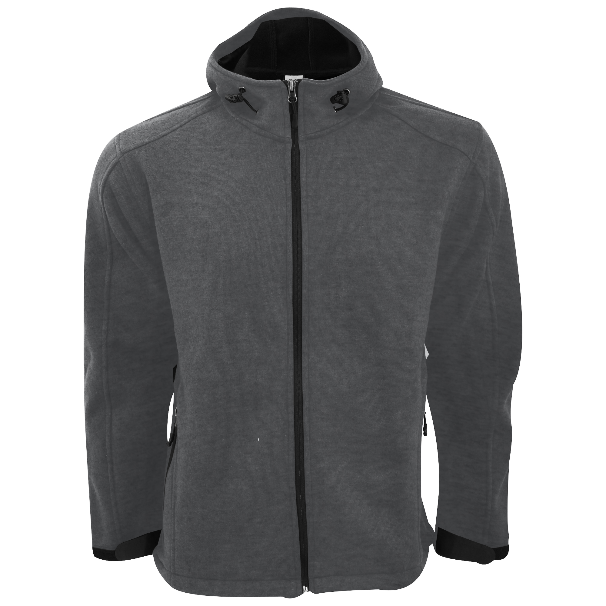 sg mens knitted bonded full zip casual outdoor hooded softshell jacket s 3xl ebay. Black Bedroom Furniture Sets. Home Design Ideas