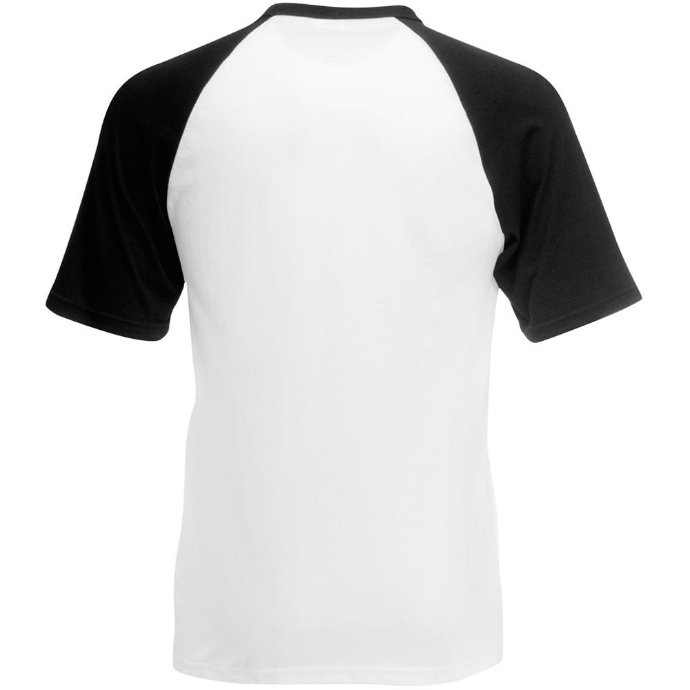 fruit of the loom mens short sleeve plain baseball t shirt. Black Bedroom Furniture Sets. Home Design Ideas