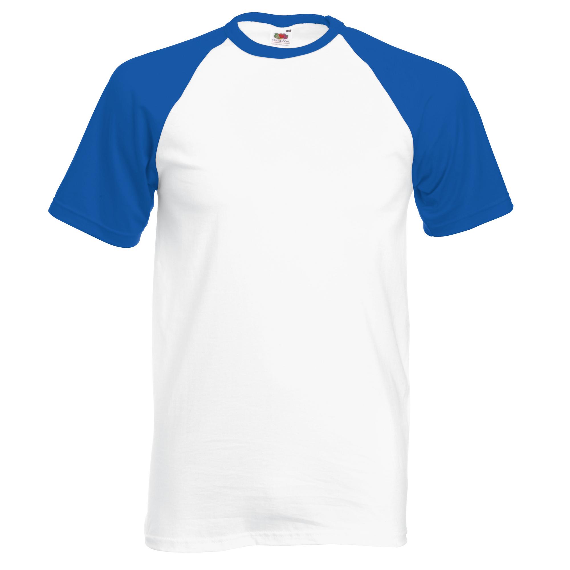 Fruit of the loom mens short sleeve baseball t shirt ebay for Short t shirt men