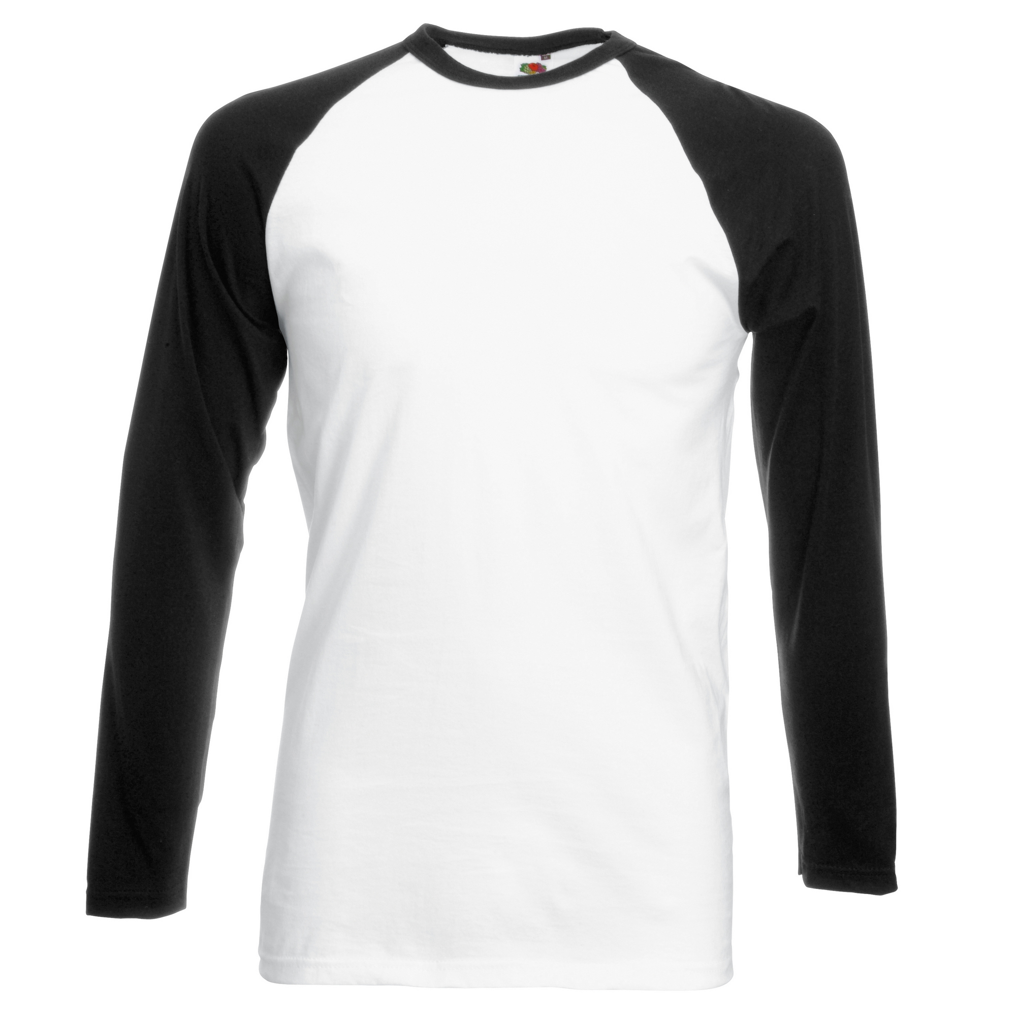 Fruit of the loom mens long sleeve baseball t shirt ebay Mens long sleeve white t shirt