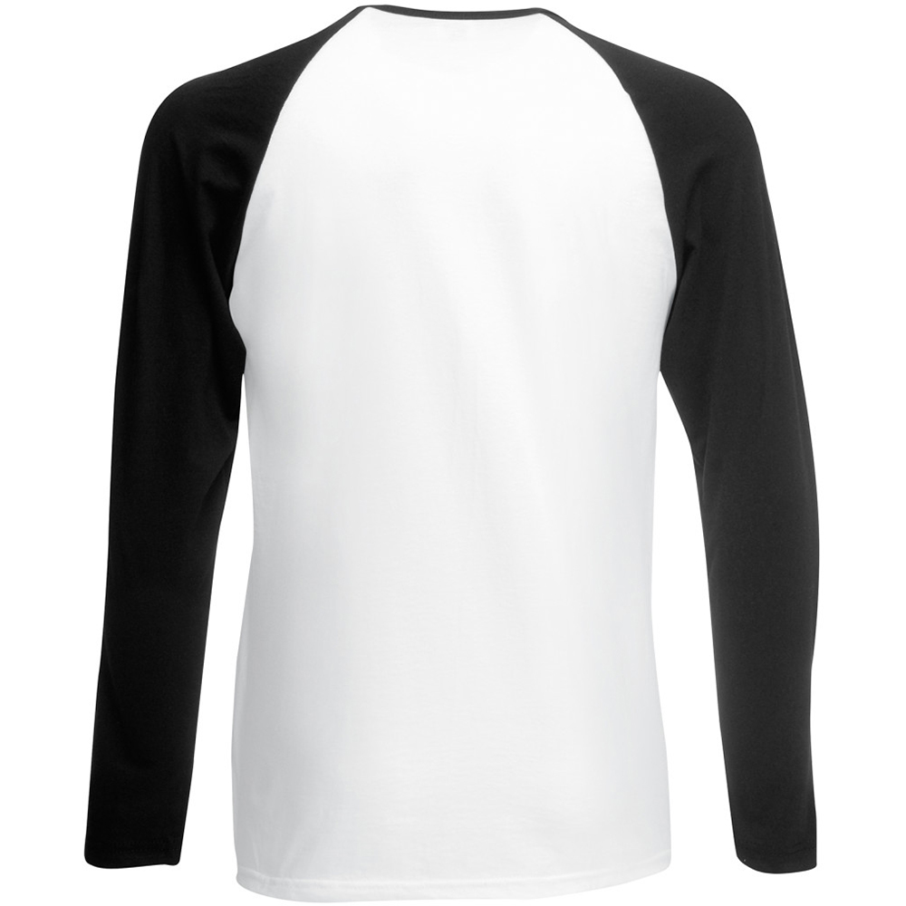 fruit of the loom mens long sleeve baseball t shirt ebay. Black Bedroom Furniture Sets. Home Design Ideas
