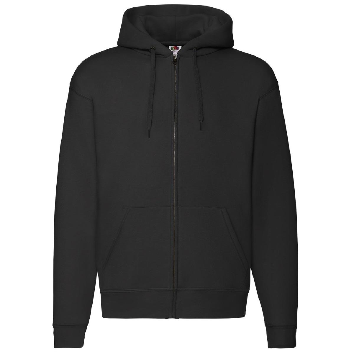fruit of the loom mens zip through hooded sweatshirt hoodie ebay. Black Bedroom Furniture Sets. Home Design Ideas