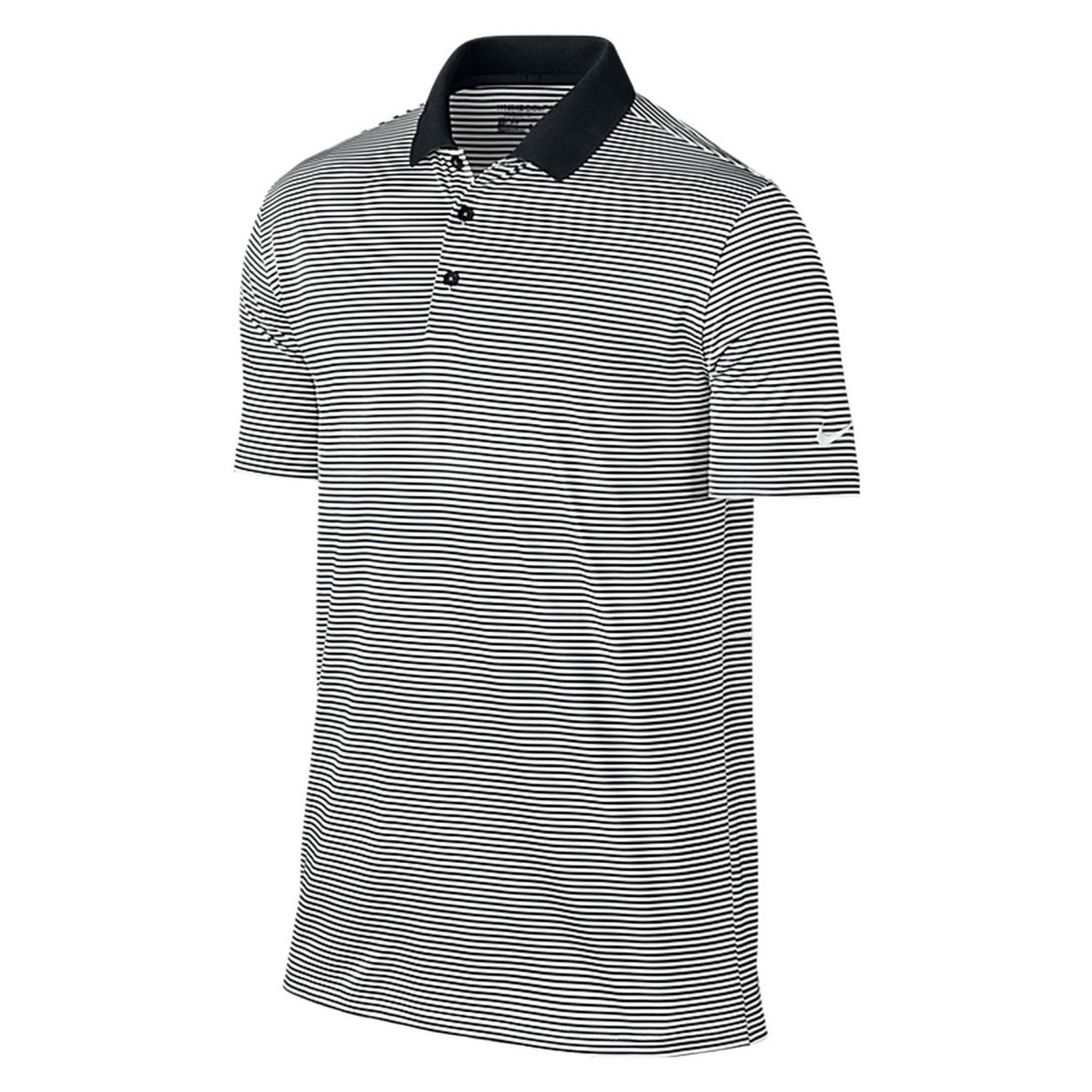 Nike golf mens victory short sleeve mini stripe polo shirt for Nike golf mens polo shirts