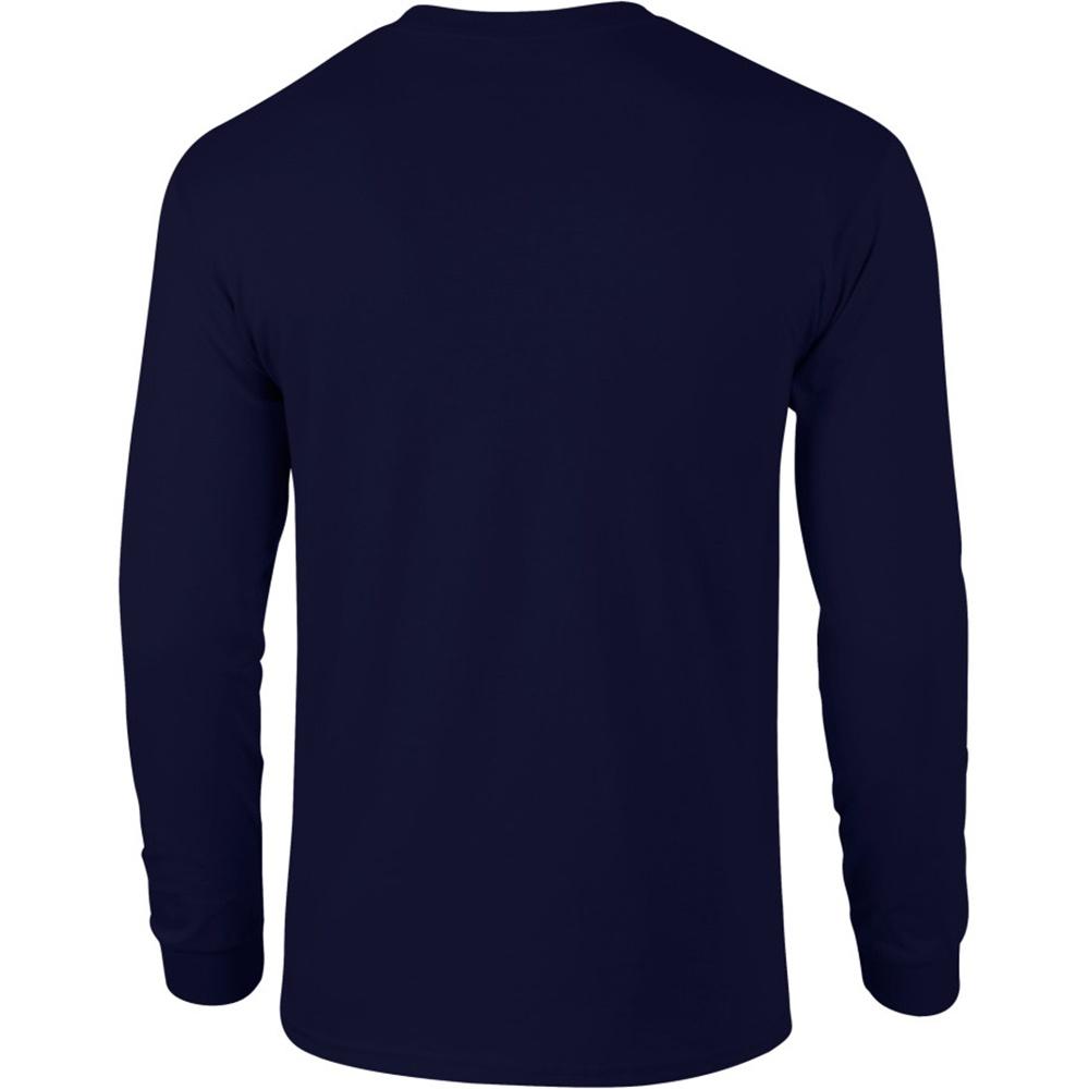 Gildan mens plain crew neck ultra cotton long sleeve t shirt for Long sleeve cotton tee shirts