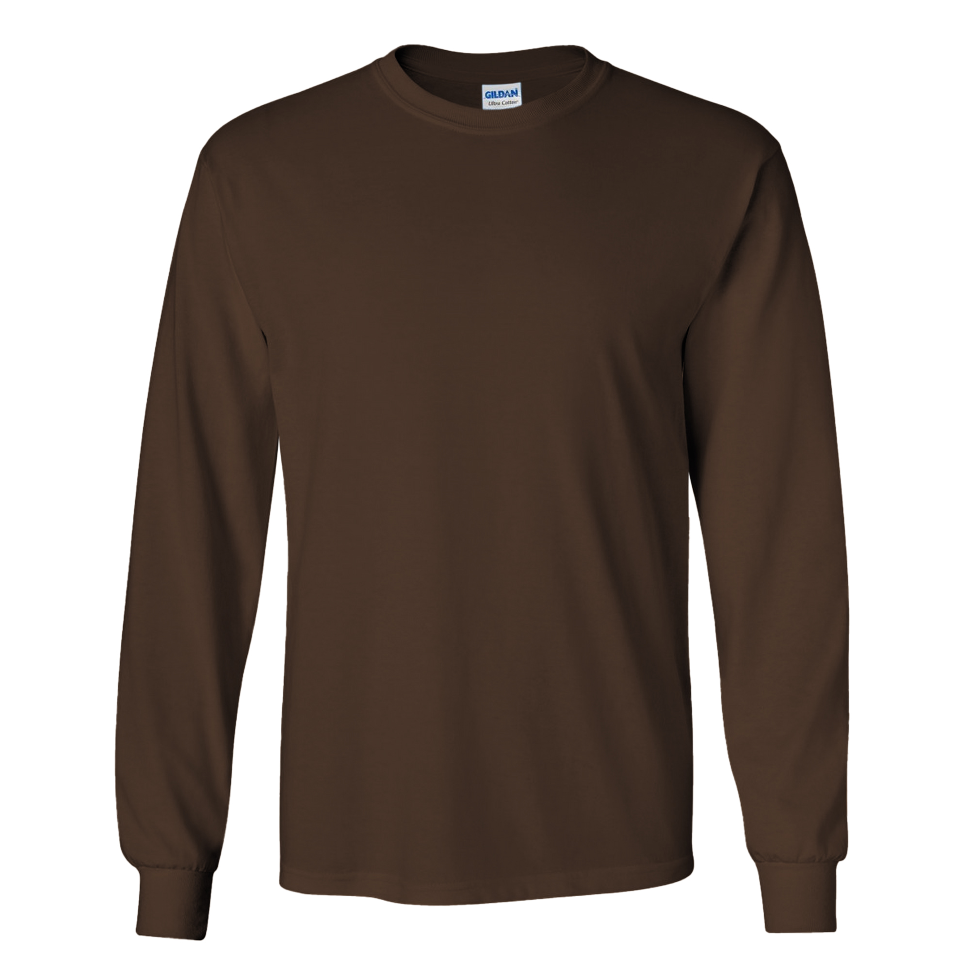 Gildan mens plain crew neck ultra cotton long sleeve t for Mens long sleeve white t shirt