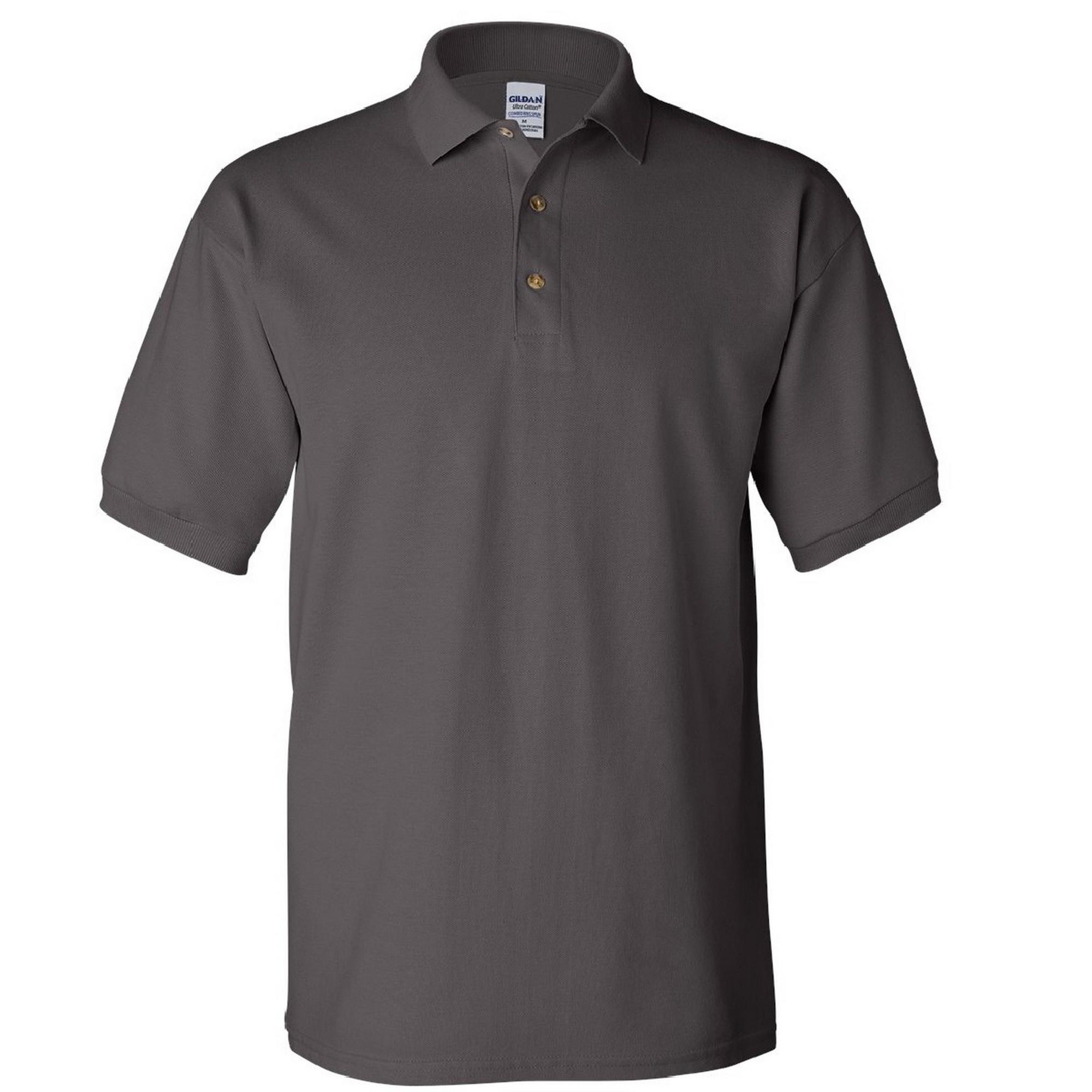 Gildan mens ultra cotton pique polo shirt ebay for Men s cotton polo shirts with pocket
