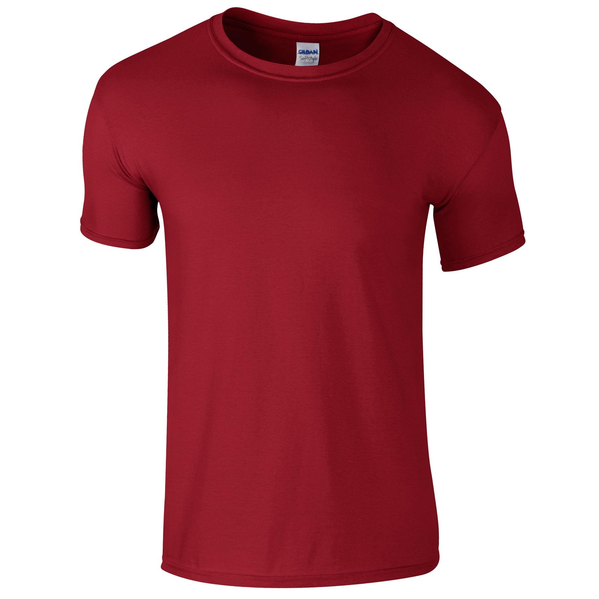 Gildan mens short sleeve soft style t shirt ebay for Mens extra short sleeve t shirts