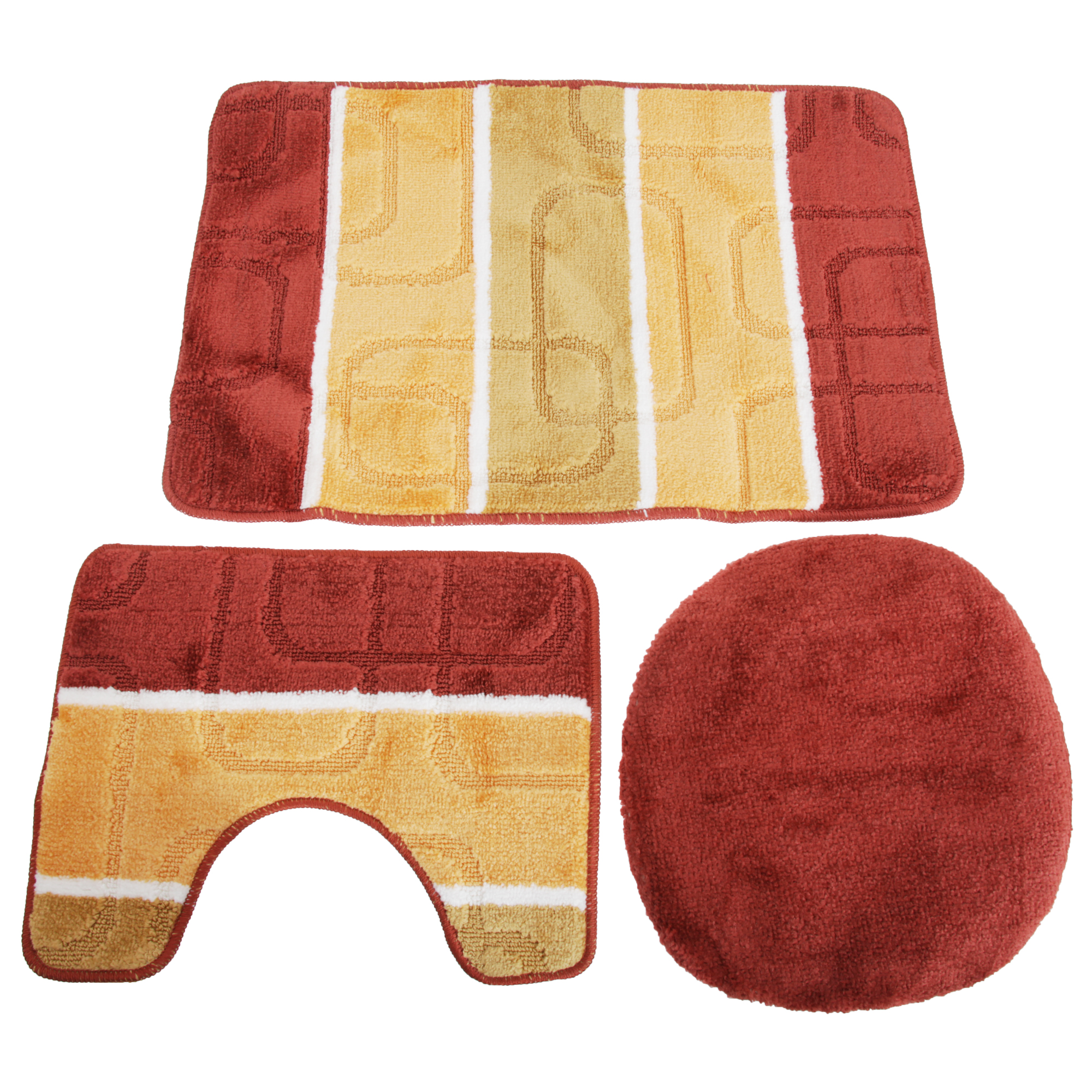 Bathroom Rugs And Toilet Seat Covers Plush Bath Rug Set
