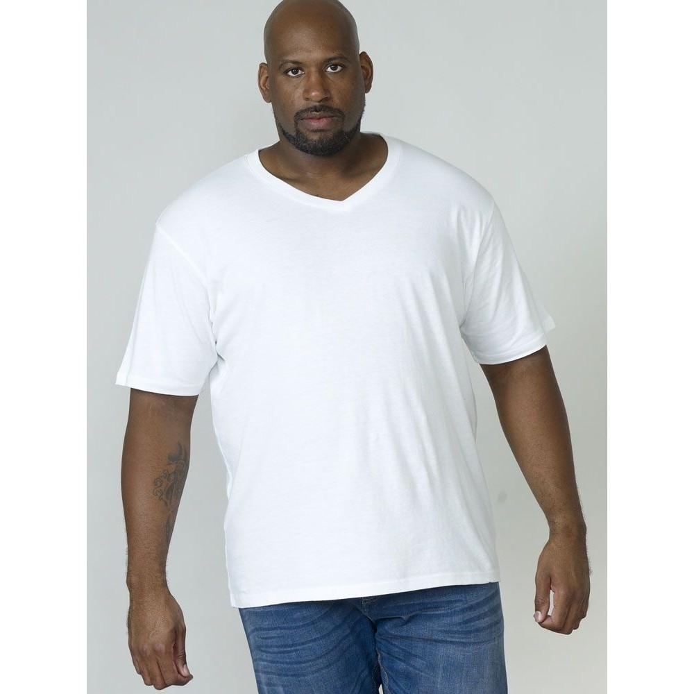 Duke-D555-camiseta-de-algodon-en-talla-grande-modelo-034-Signature-034-para-hombre