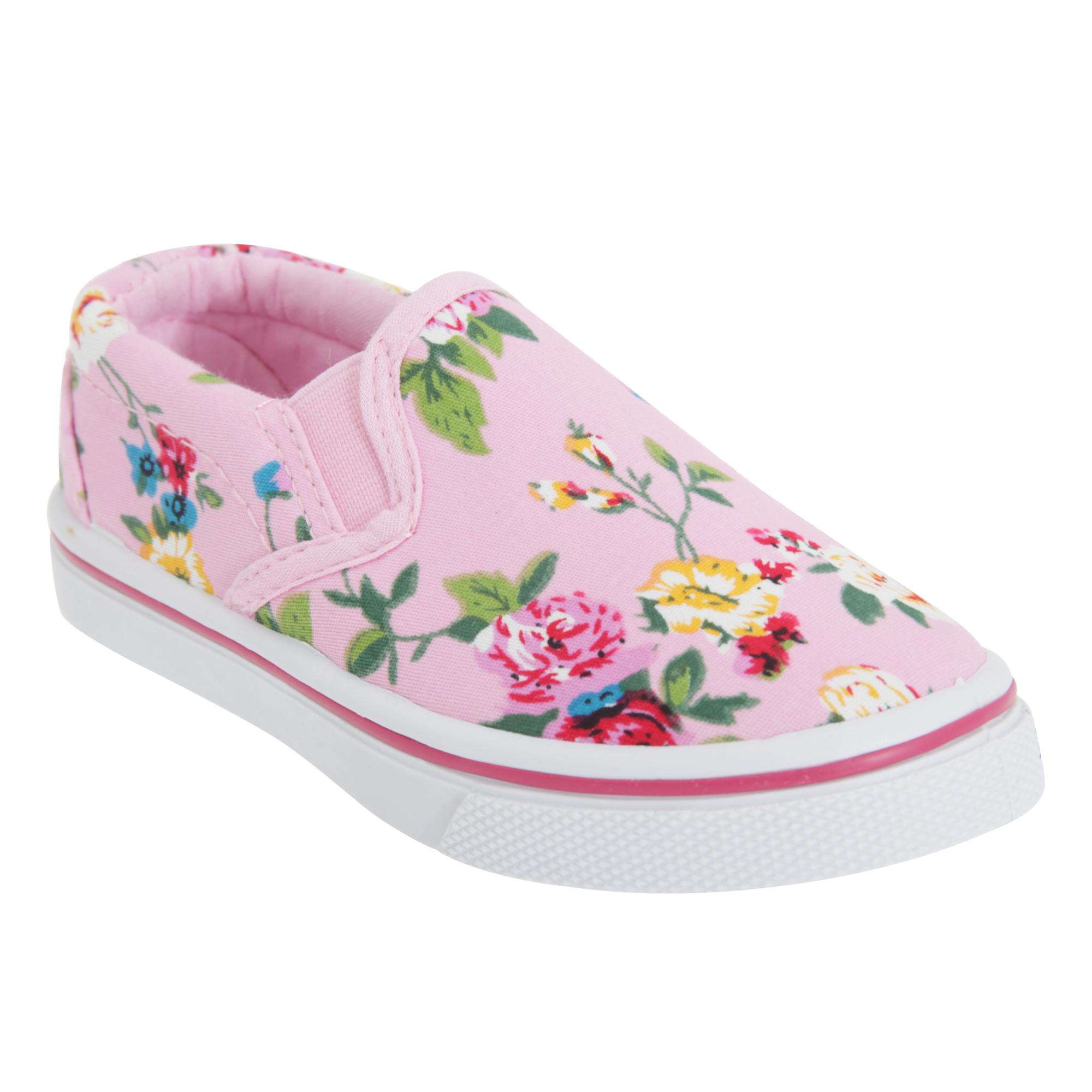 dek childrens slip on floral canvas shoes ebay