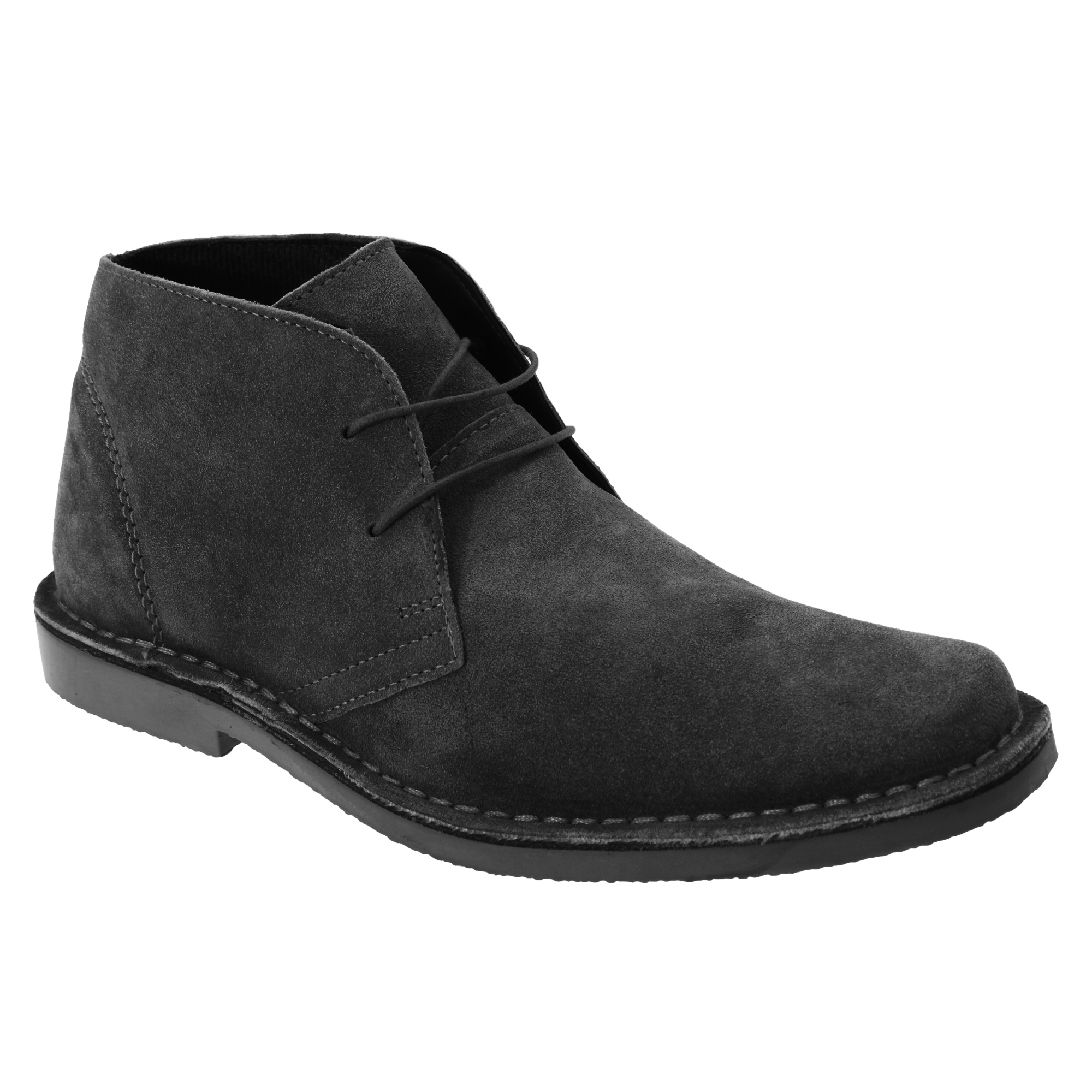 roamers mens real suede classic casual desert ankle boots shoes sizes 7 13 utdf. Black Bedroom Furniture Sets. Home Design Ideas