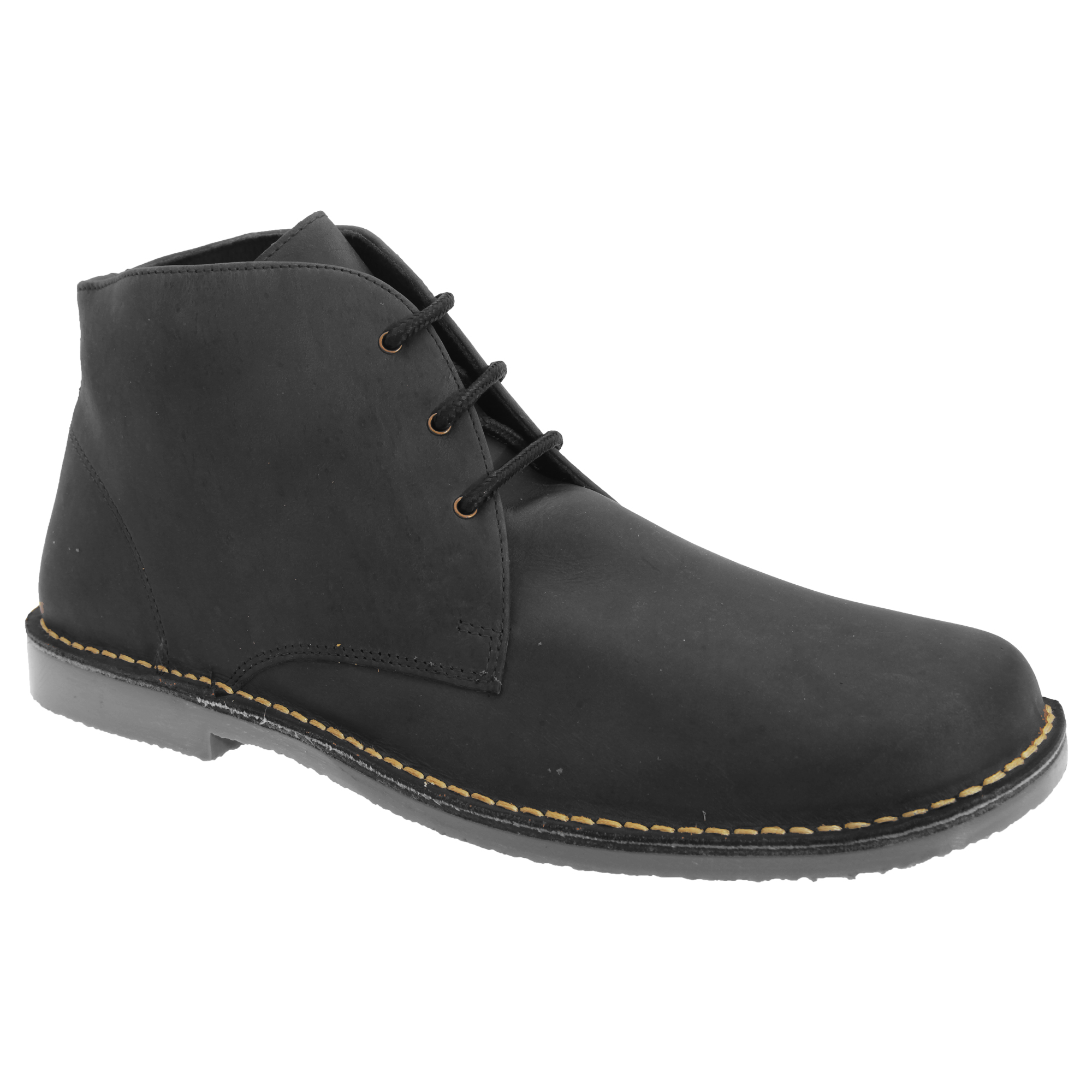 roamers mens waxy leather fulfit casual desert ankle boots