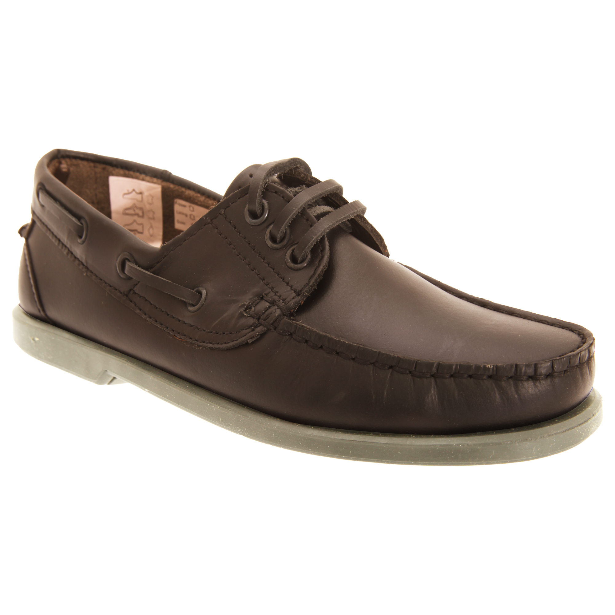 dek mens leather casual lace up slip on moccasin boat