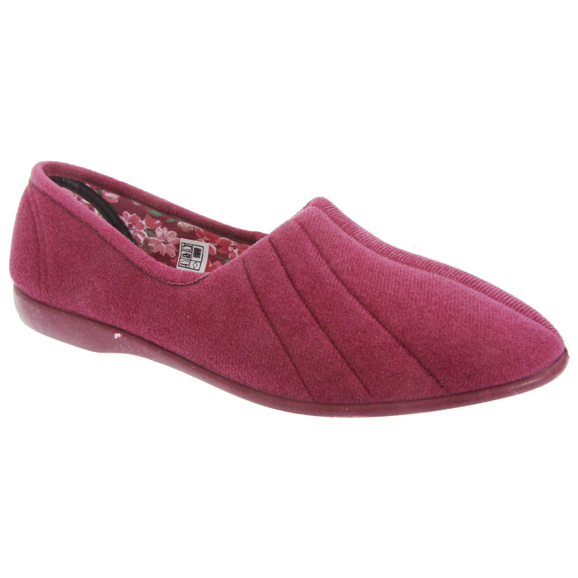 GBS Audrey Womens /Ladies Indoor House Slipper Shoes /Slippers Sizes 5-11 | EBay