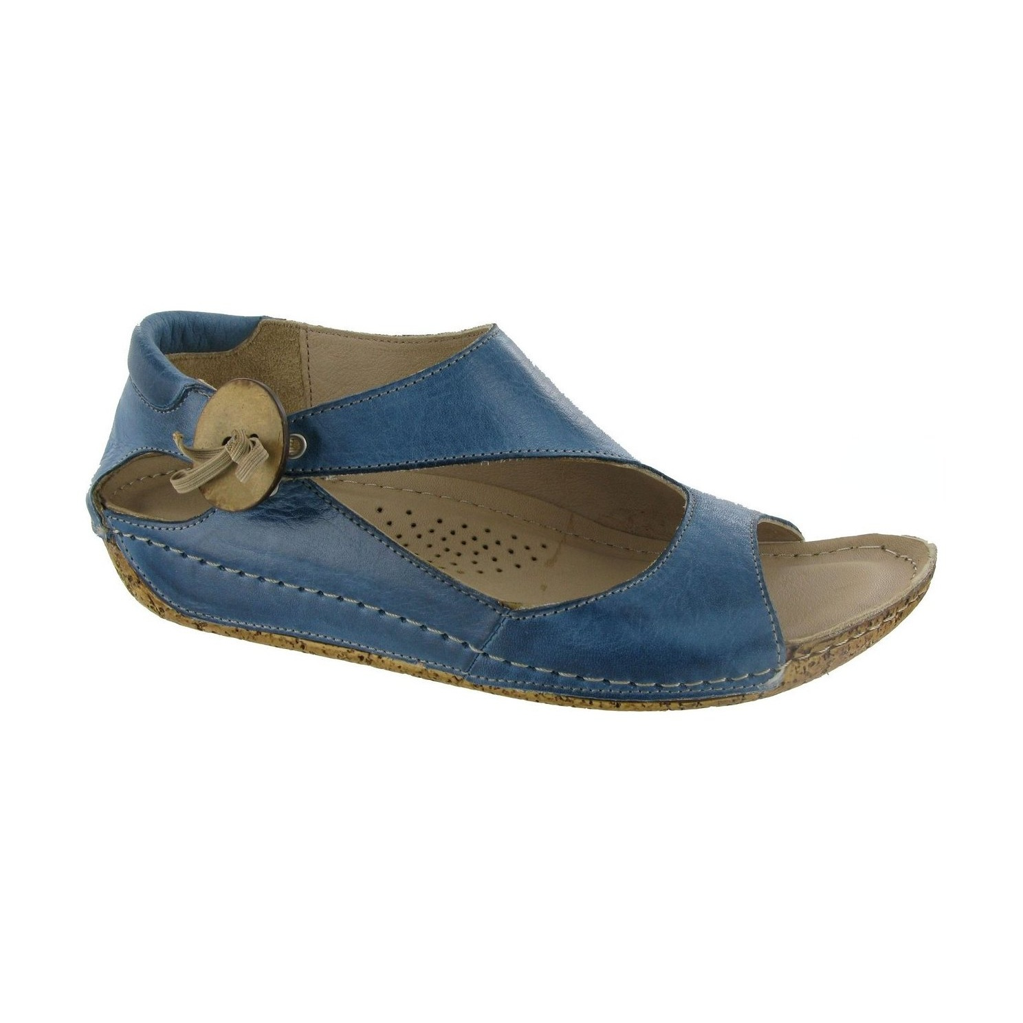 Womens sandals ebay - Riva Cartier Womens Ladies Leather Wedge Slingback Sandals