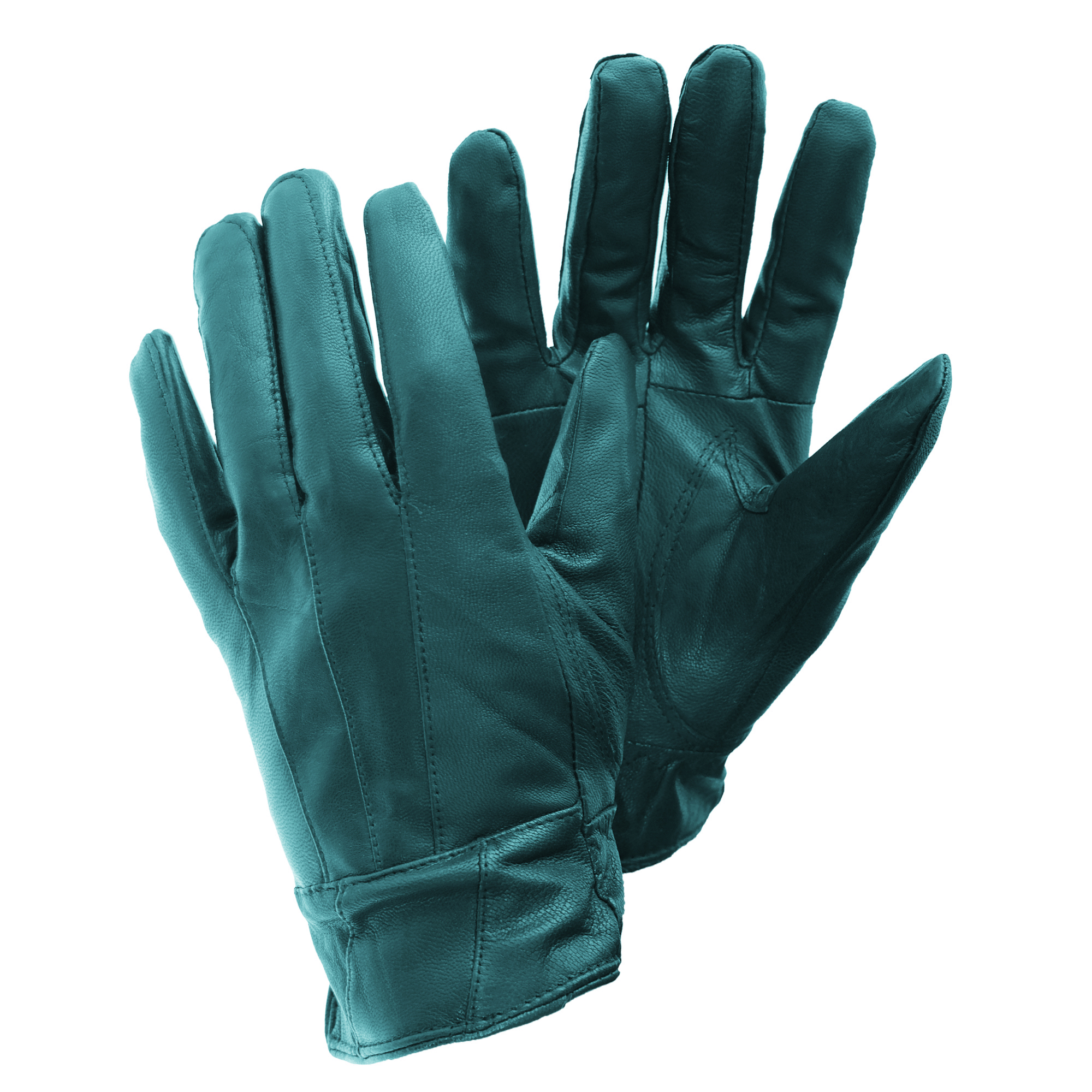 Womens leather gloves teal - Floso Ladies Womens Sheepskin Leather Gloves