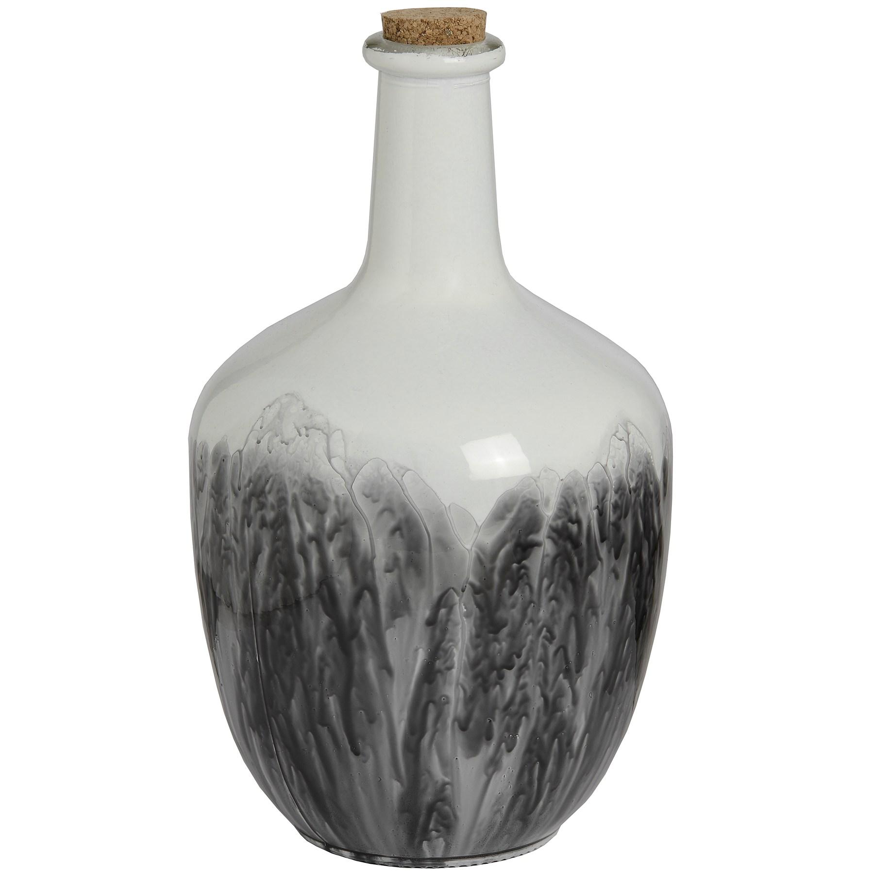 Hill-Interiors-Bottiglia-in-ceramica-con-tappo-in-sughero