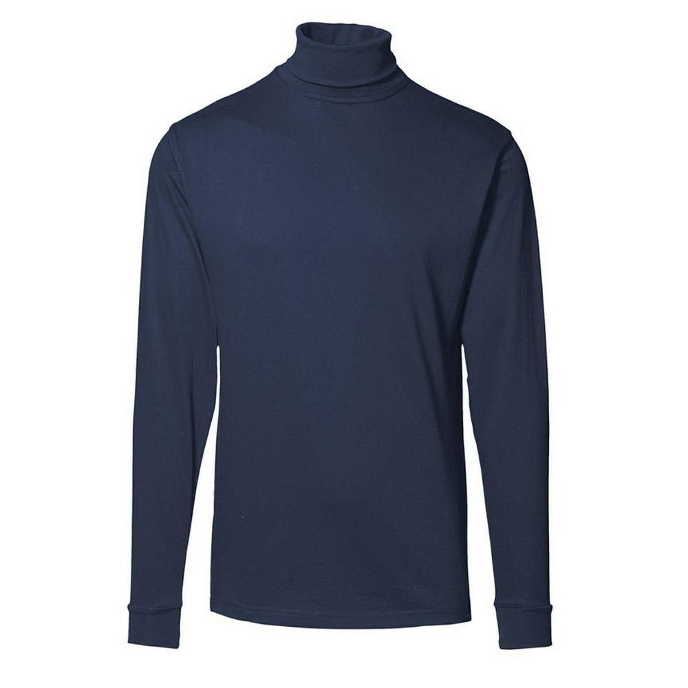 Id mens t time long sleeve turtleneck t shirt for Turtleneck under t shirt