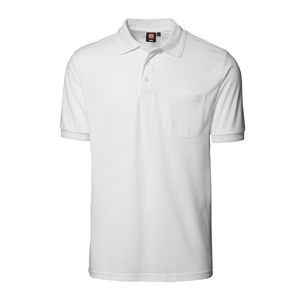 Id mens classic short sleeve pique polo shirt with pocket for Polo t shirts with pocket online