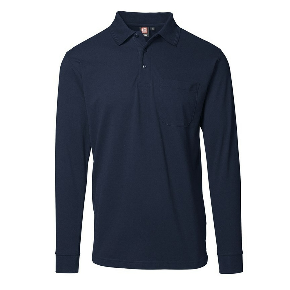 id mens pro wear pocket long sleeve polo shirt ebay