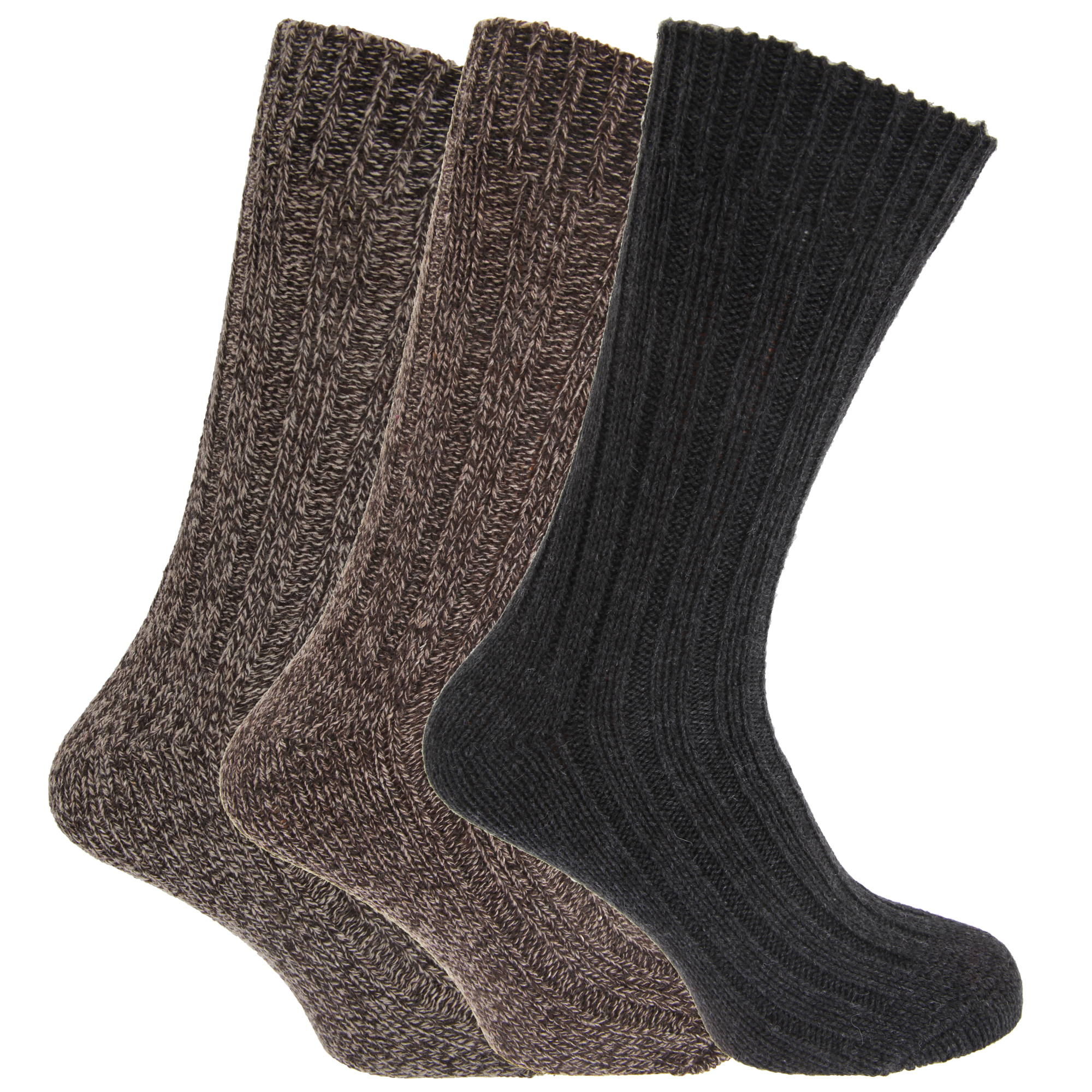 mens chunky boot socks with wool pack of 3 ebay