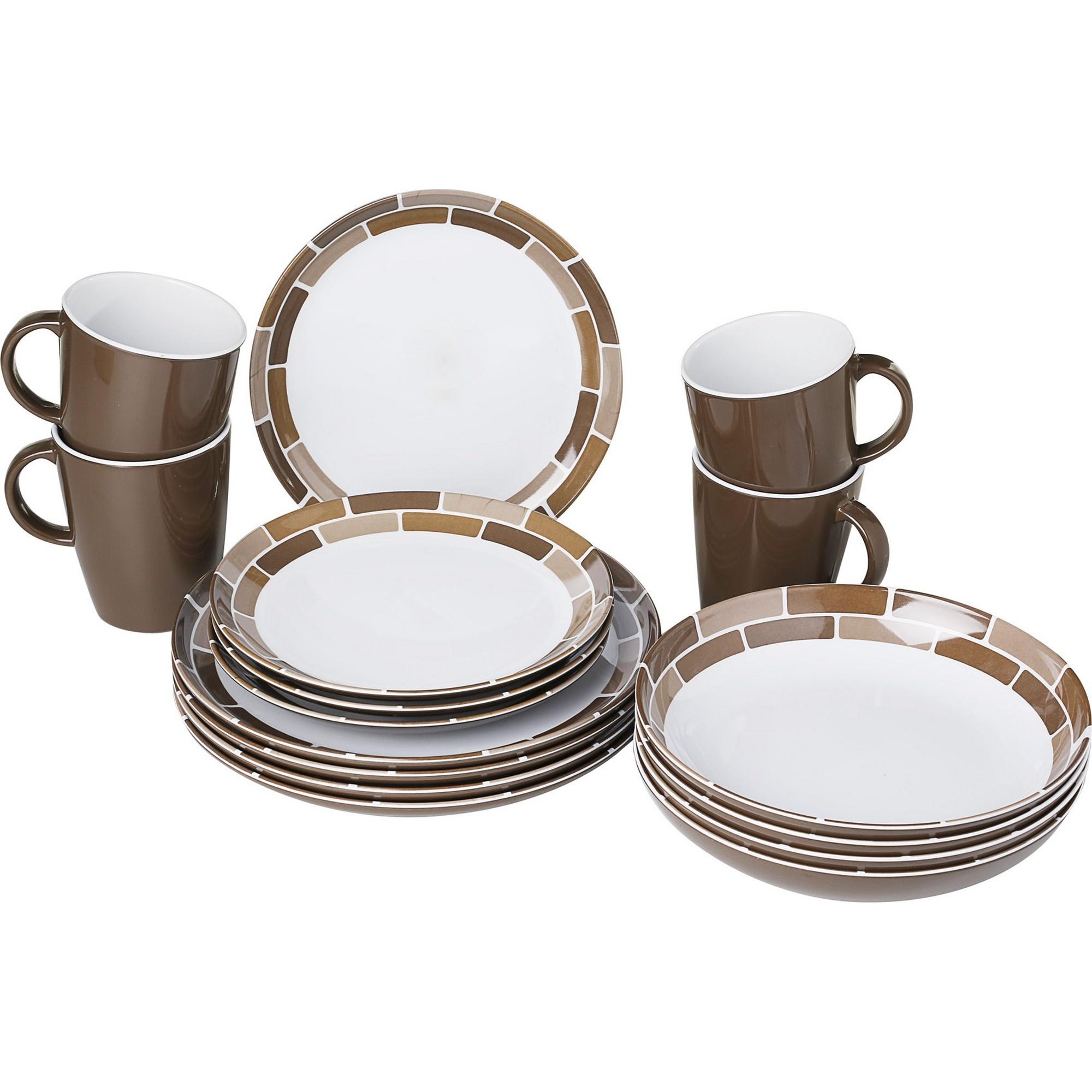 Brunner lunch box melamine dinnerware set 16 pieces ebay for Cuisine melamine