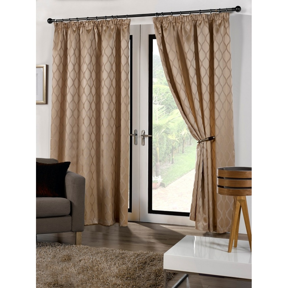 Cuba ready made fully lined patterned curtains for Patterned curtains and drapes