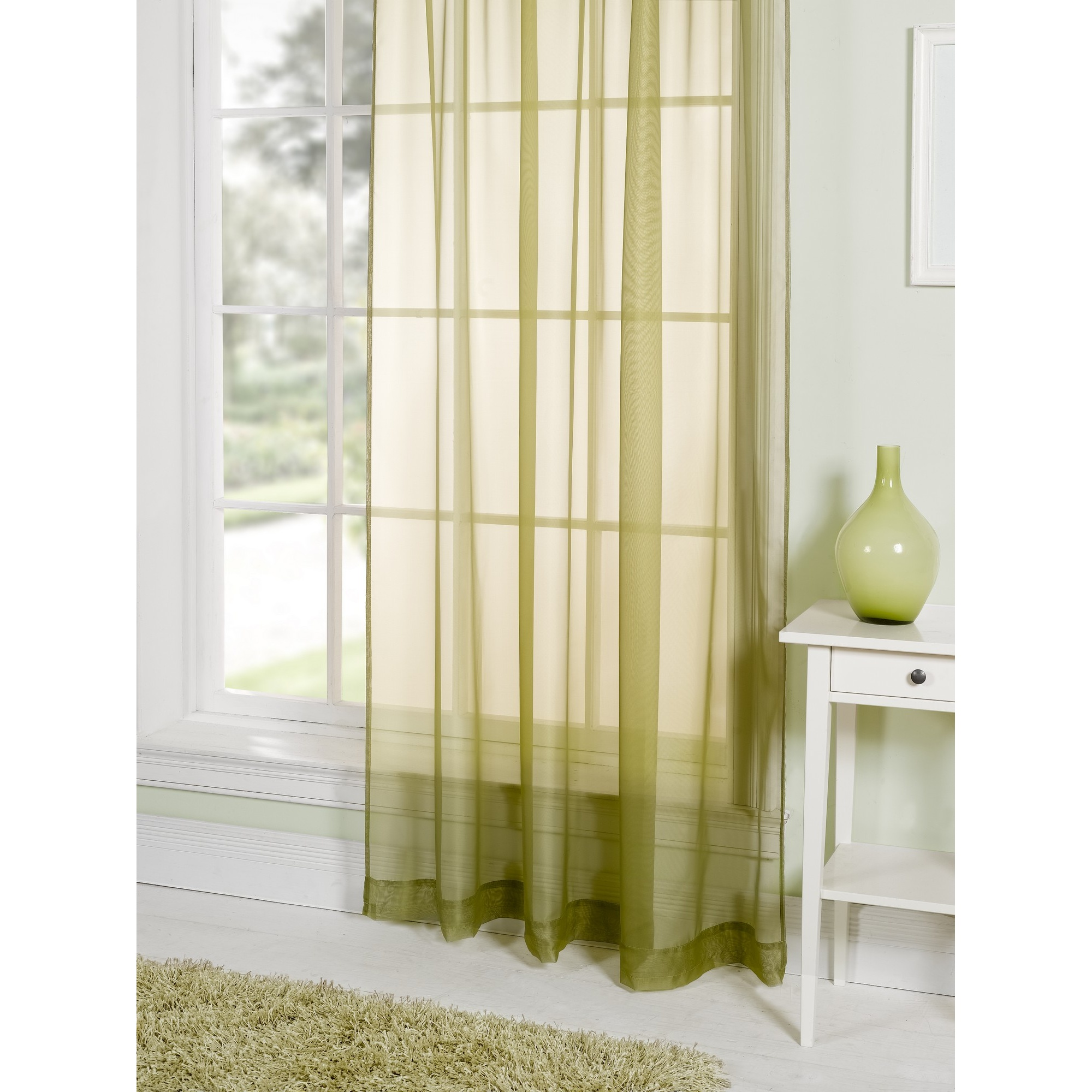 Colored sheer curtains - Lucy Plain Colored Scarf Valances Voile Panel Window