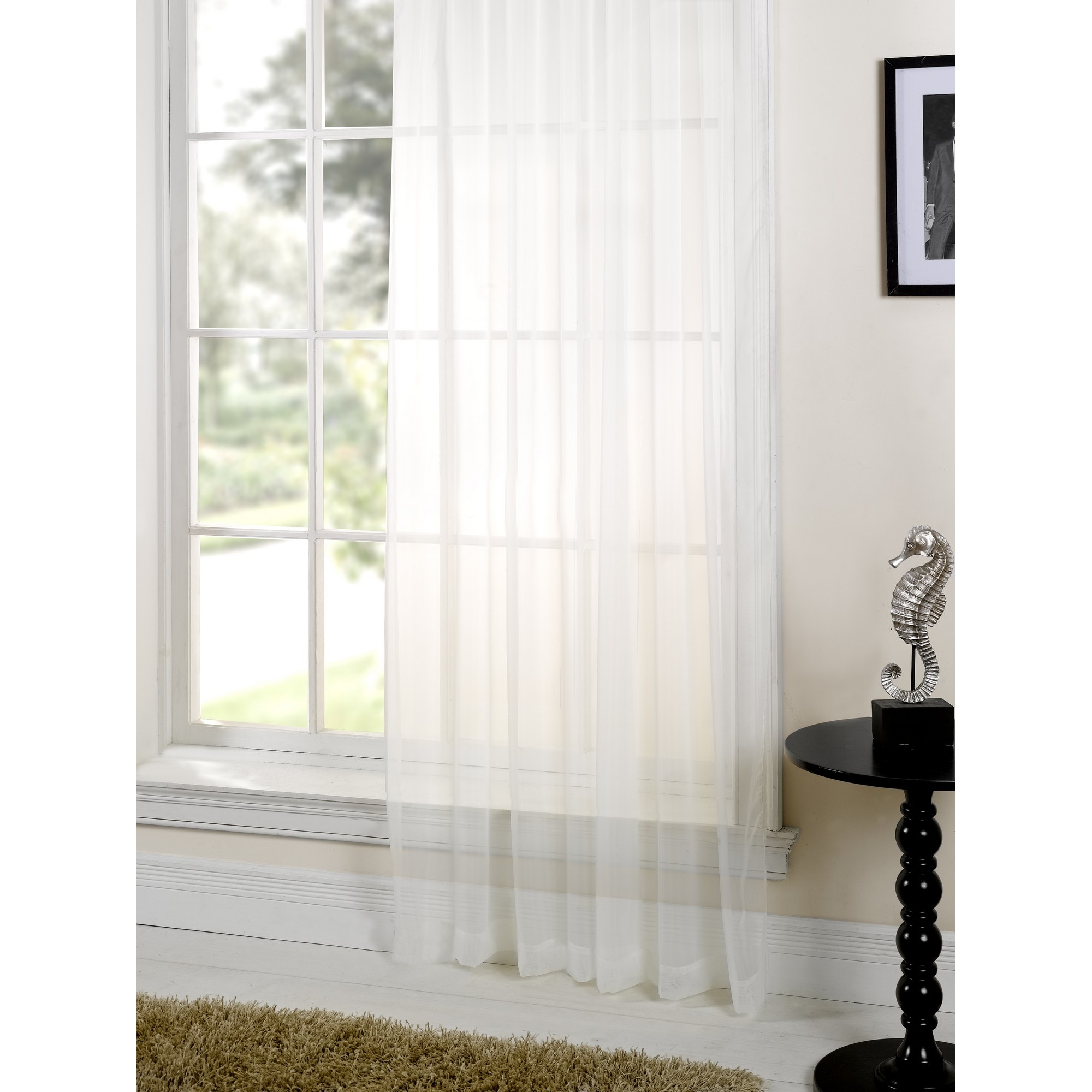 Lucy plain colored scarf valances voile panel window sheer for Window voiles