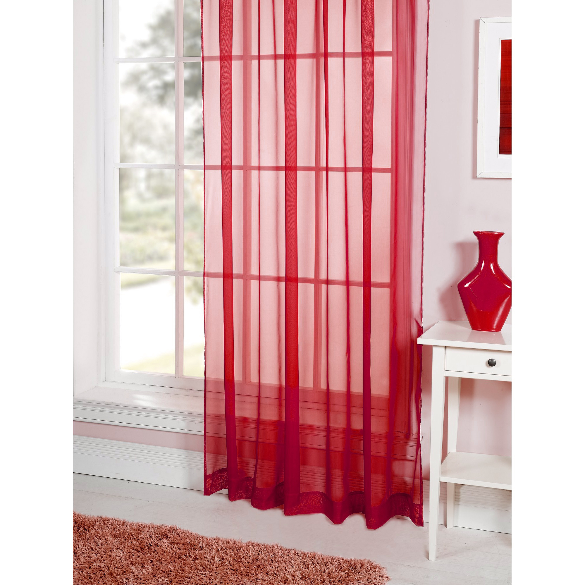 Crushed sheer voile curtains