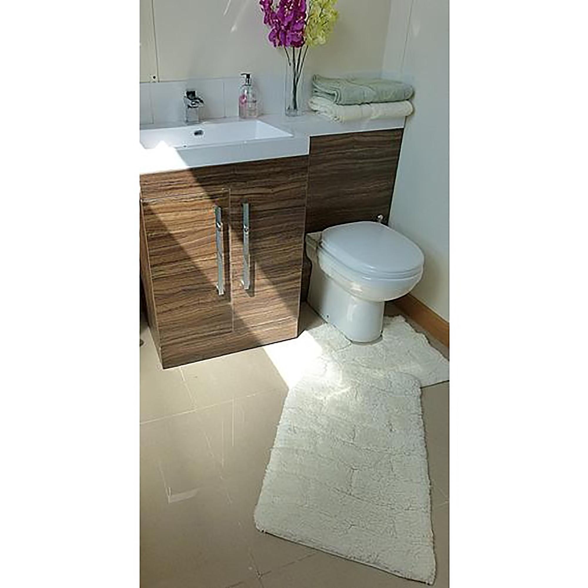 Set tappeti da bagno 100 cotone 2 pezzi ebay - Tappeti da bagno ...