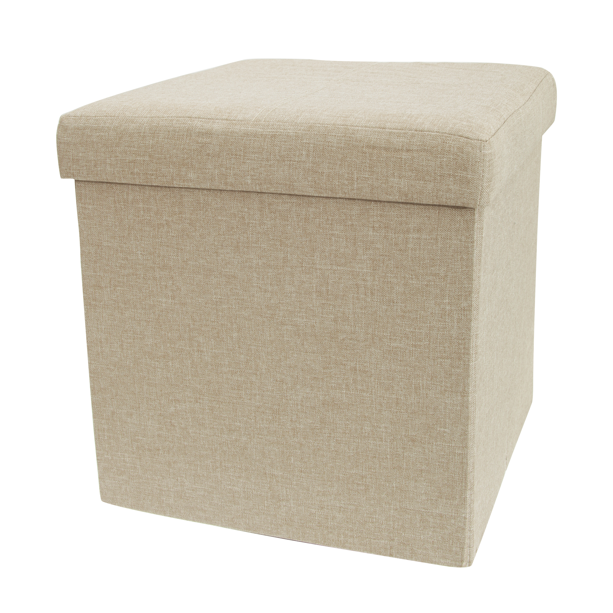 multifunctional linen folding square storage box ottoman