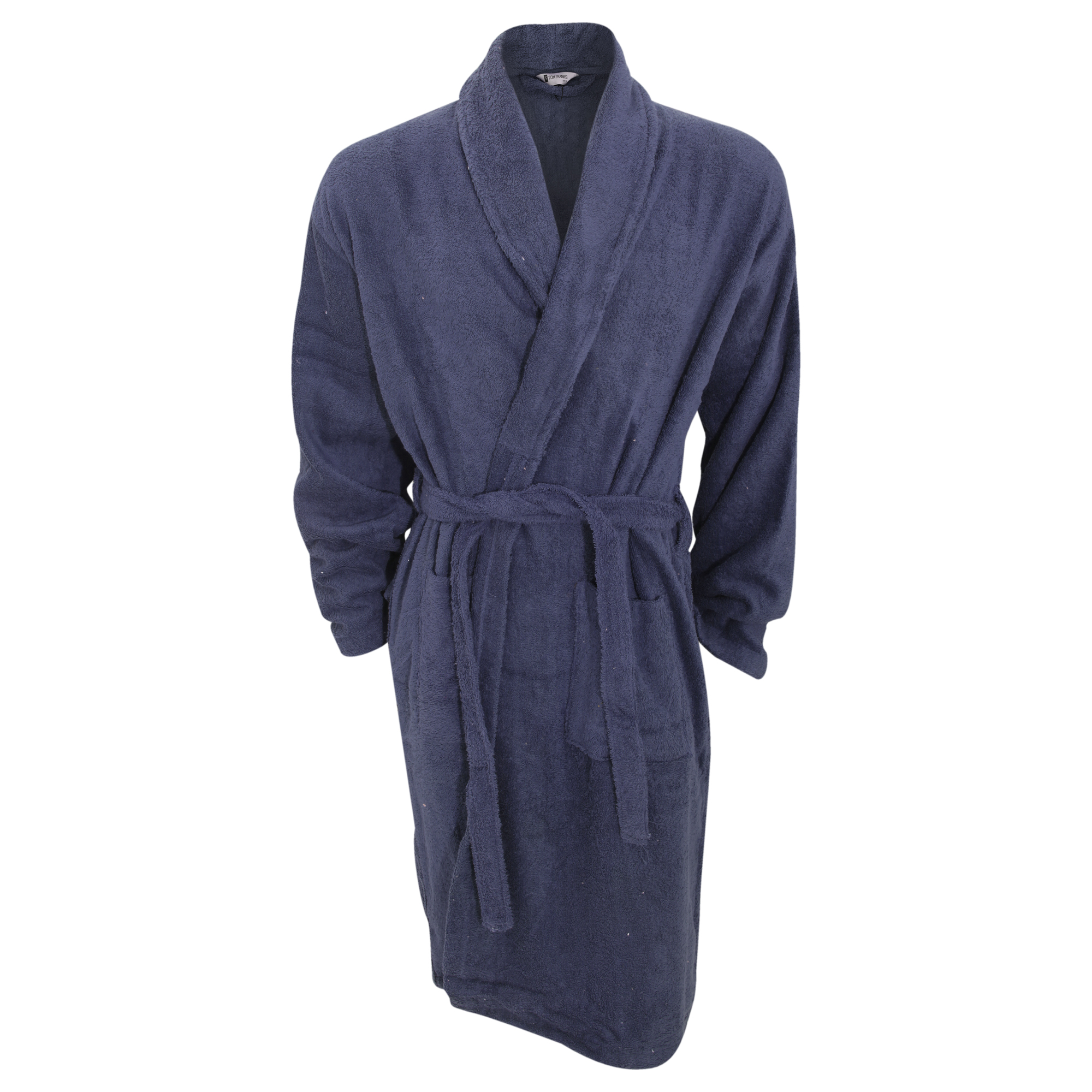 Robe Australia: Mens Plain Cotton Towelling Robe/Dressing Gown
