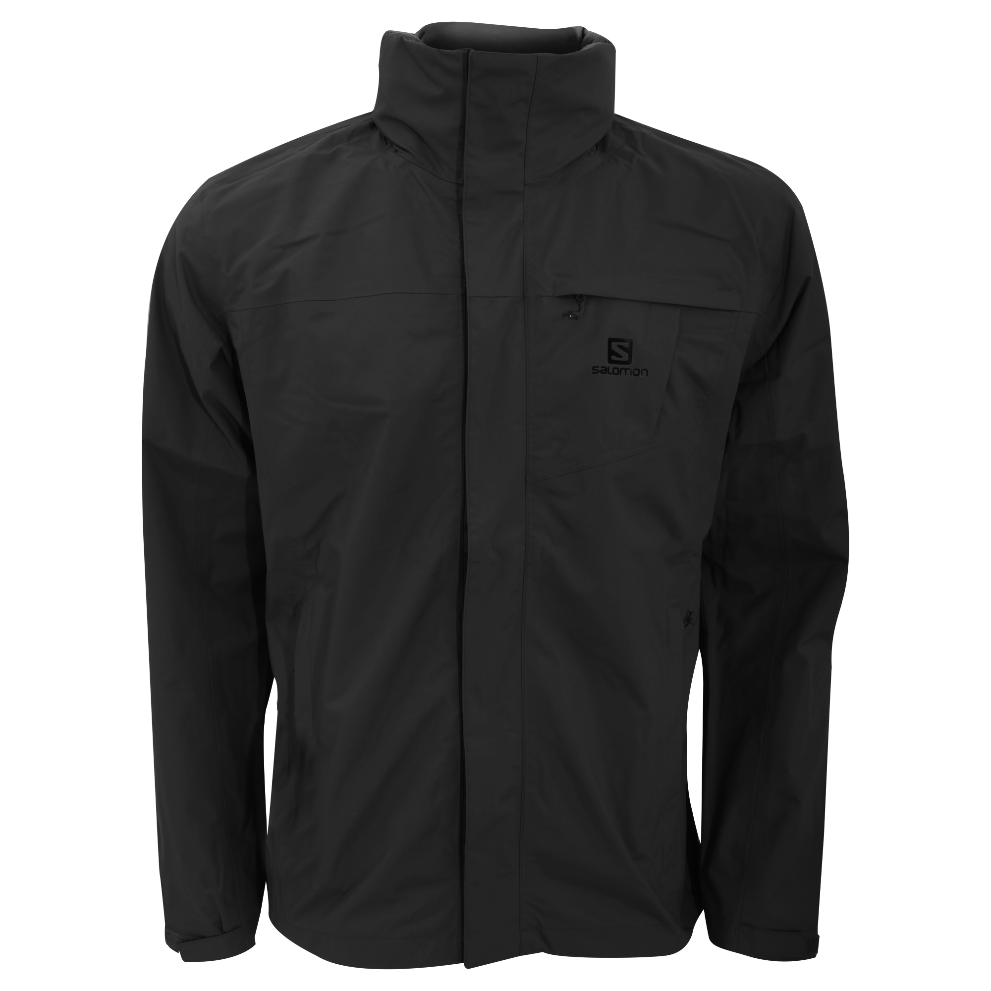 Salomon Mens Elemental AD Zip up Hooded Waterproof Casual Jacket ...