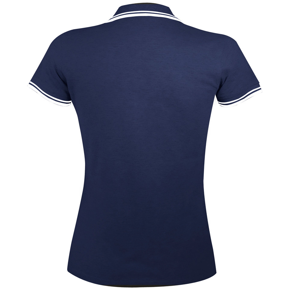 Sols Womens Ladies Pasadena Tipped Short Sleeve Pique Polo