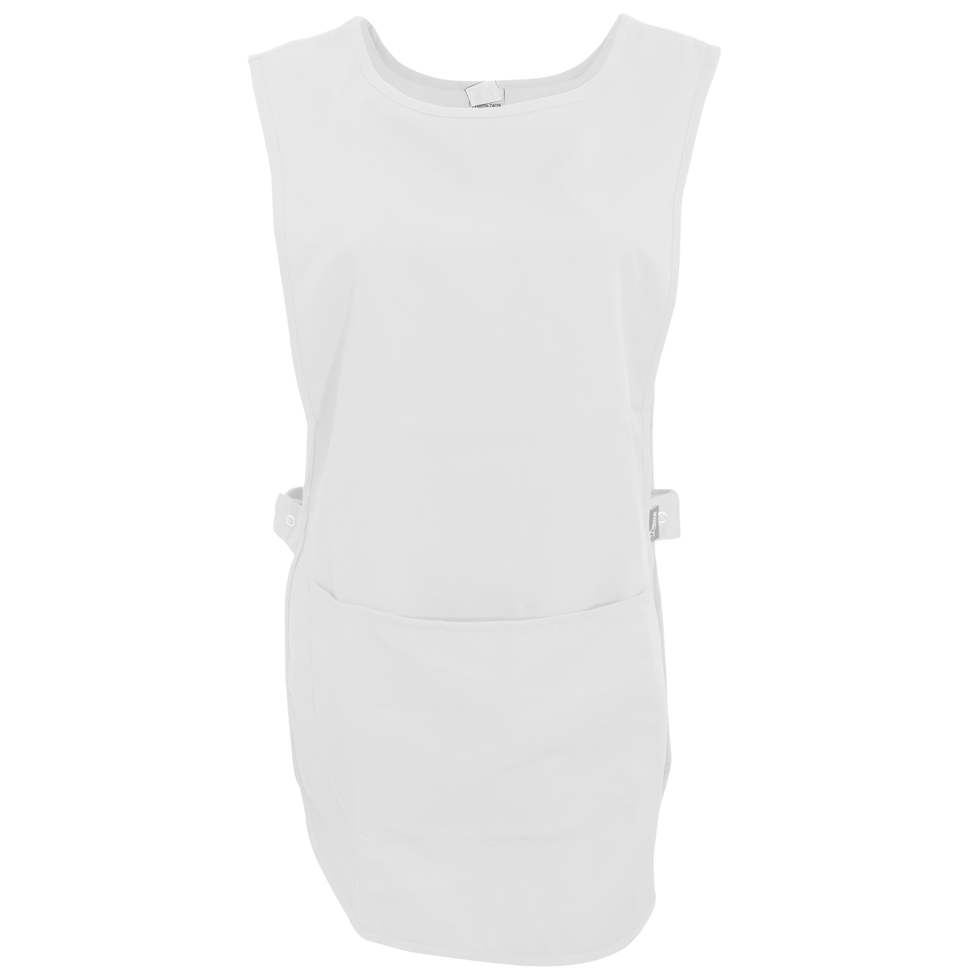 White tabard apron - Dennys Womens Ladies Tabard Apron With Pocket