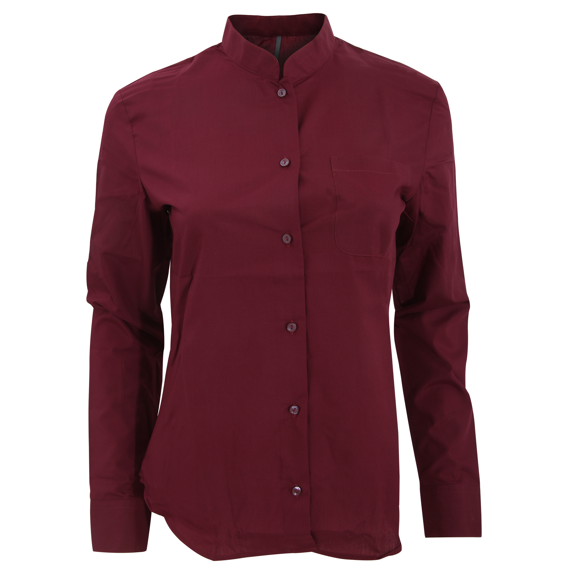 Kariban Womens Ladies Long Sleeve Mandarin Collar Shirt Ebay