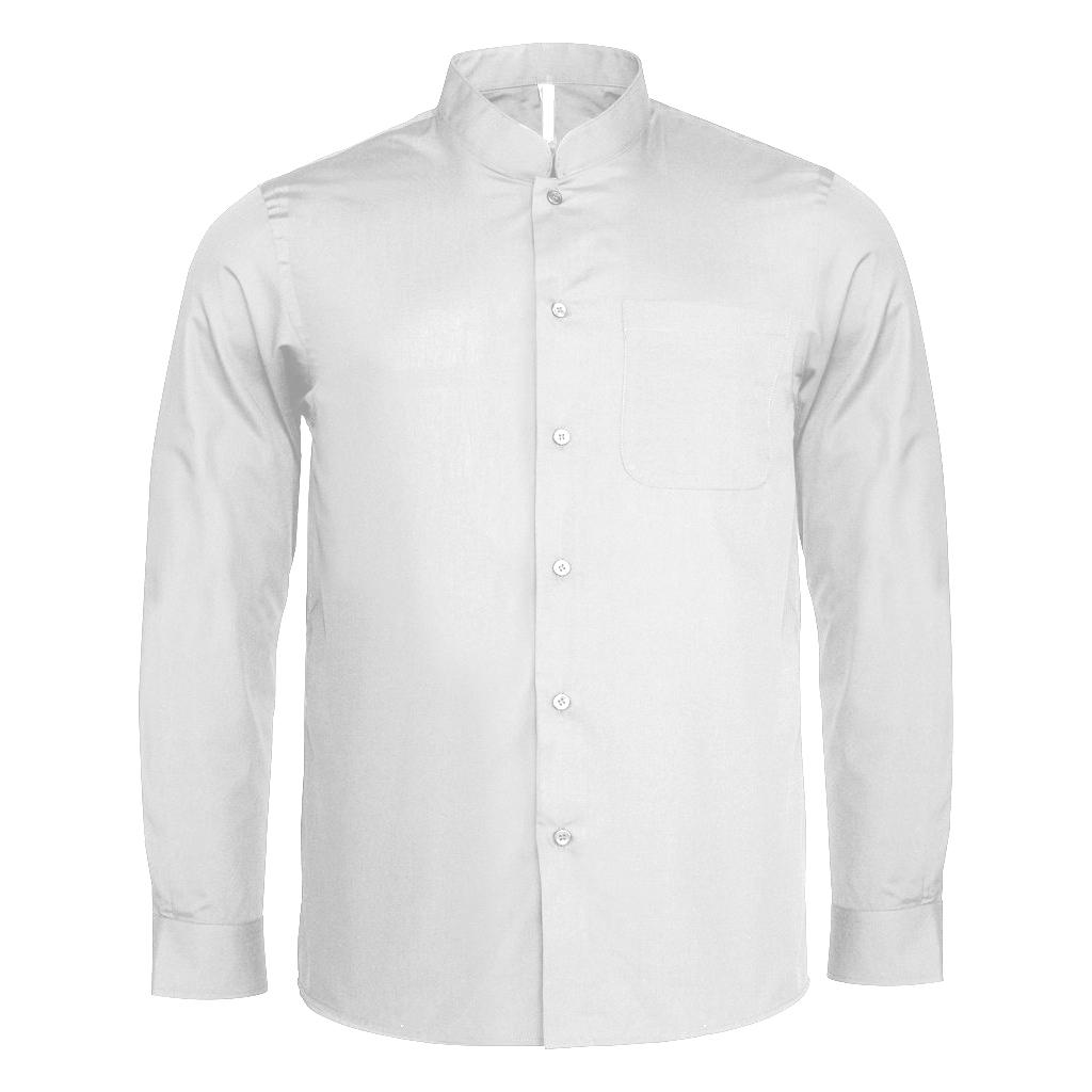 Kariban mens long sleeve mandarin collar shirt for Chinese collar shirts for men