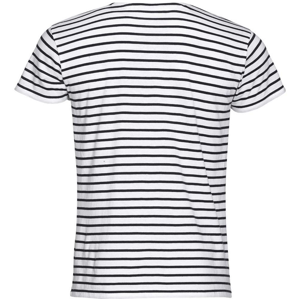 SOLS-Camiseta-a-rayas-de-manga-Modelo-Miles-hombre-caballero