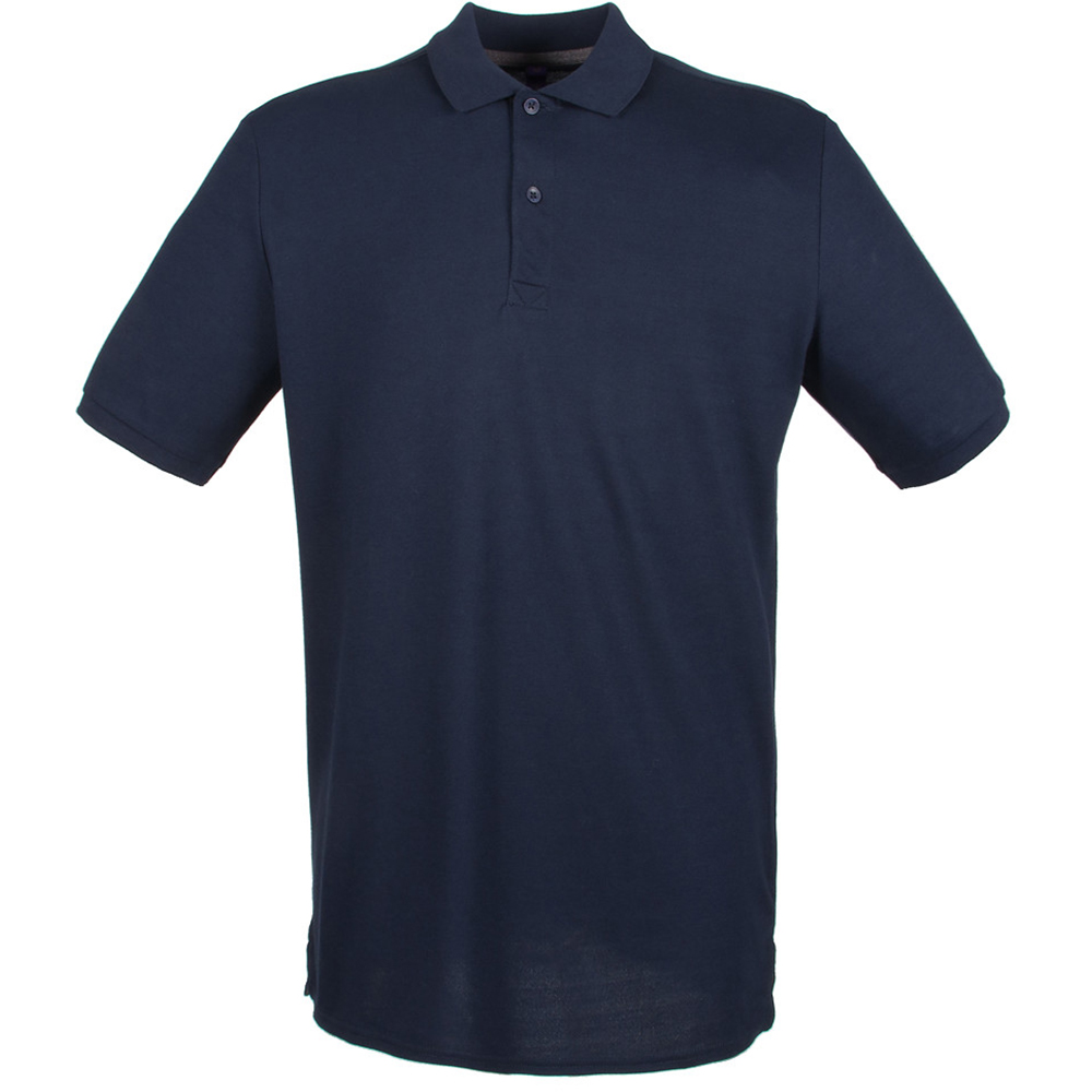 Henbury mens modern fit cotton pique polo shirt for Mens fitted polo shirts