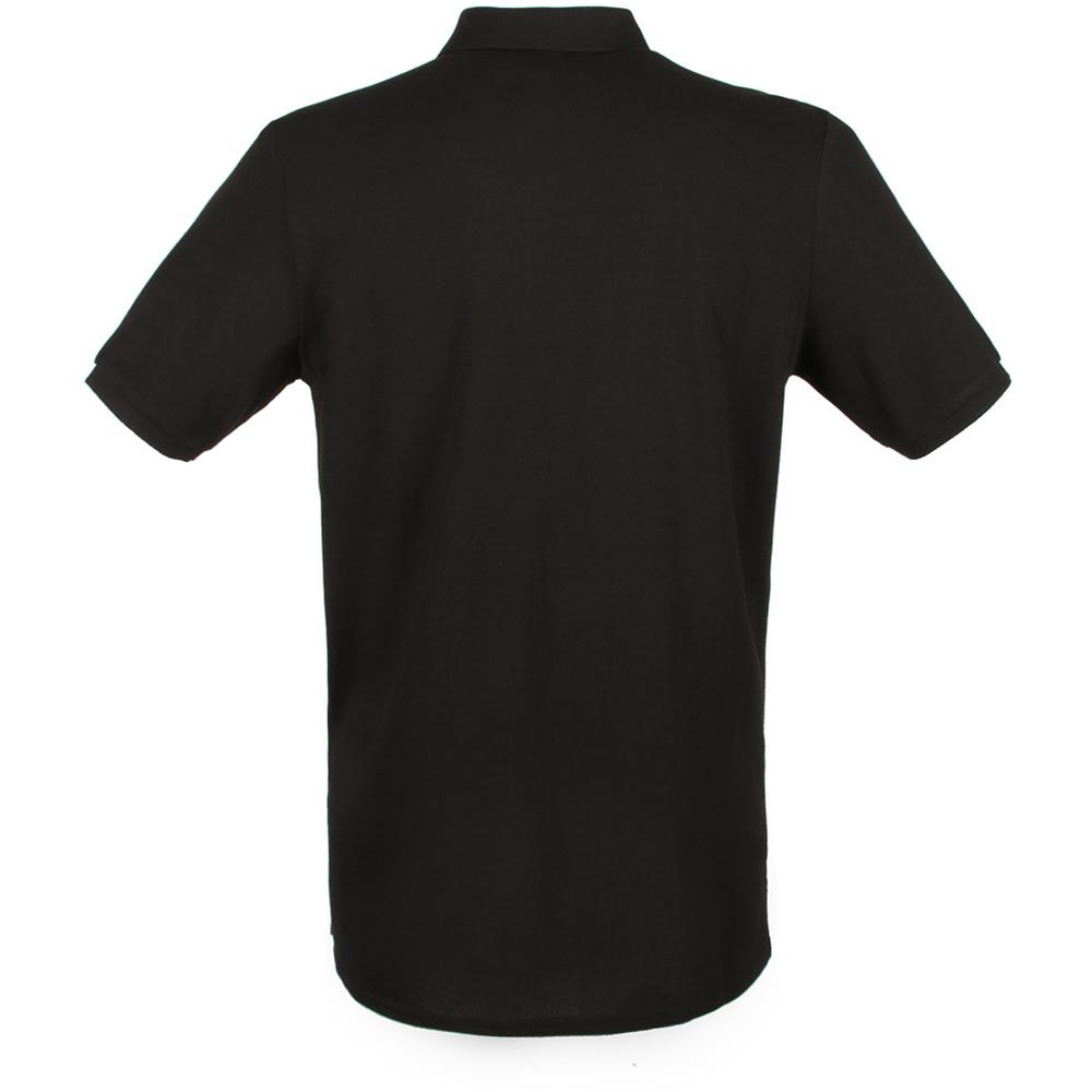 henbury mens modern fit cotton pique polo shirt