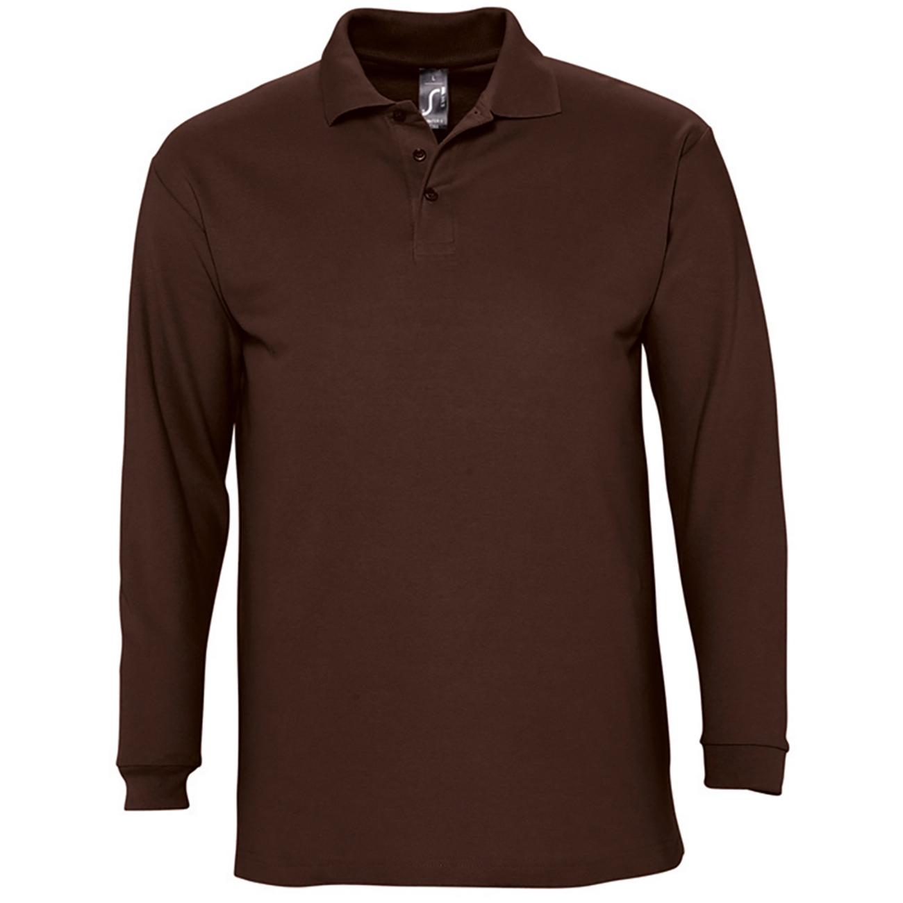 Sols mens winter ii long sleeve pique cotton polo shirt for Mens long sleeve pique polo shirts